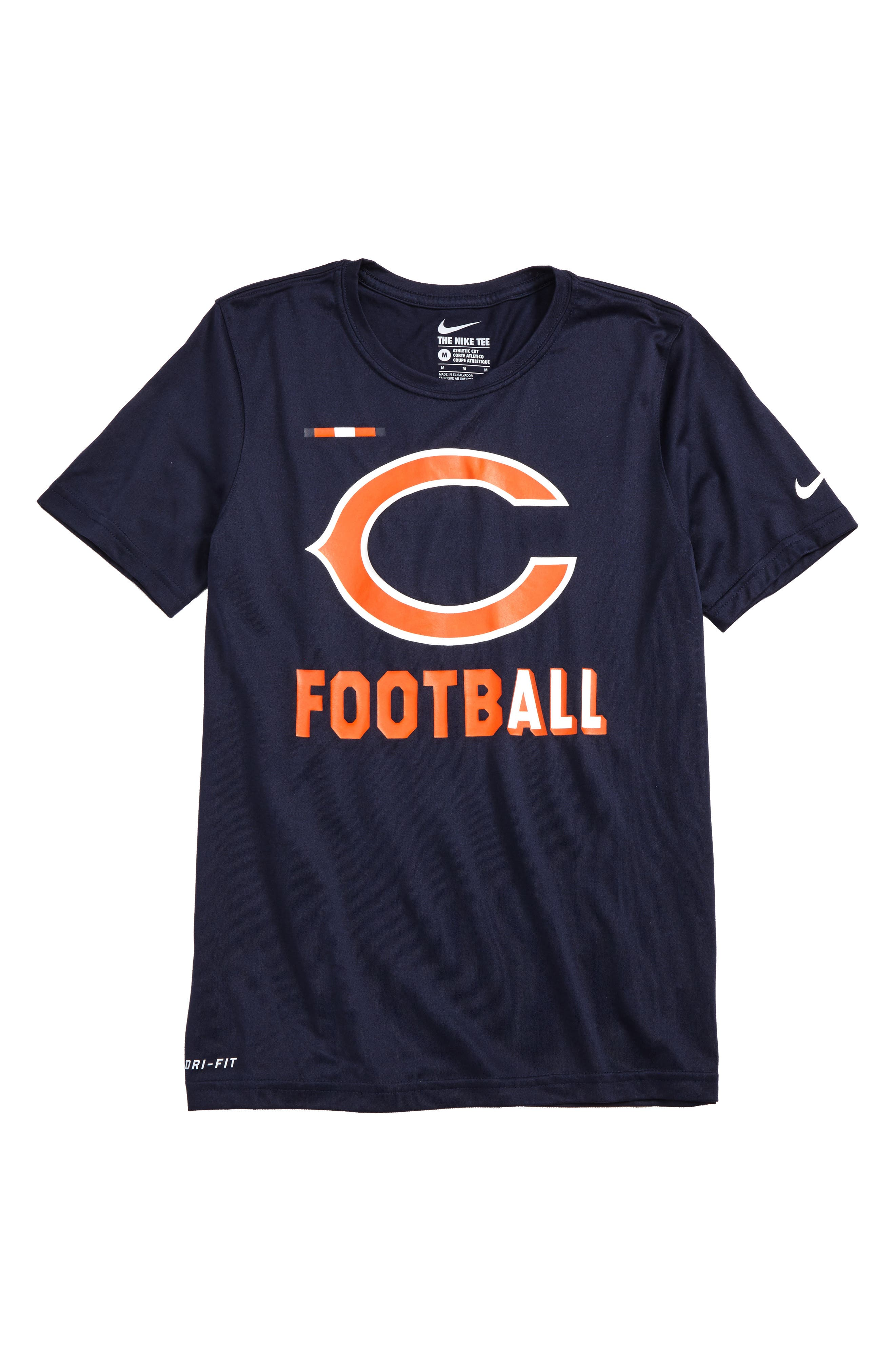 Nike NFL - Chicago Bears Dry T-Shirt,                             Main thumbnail 1, color,                             404