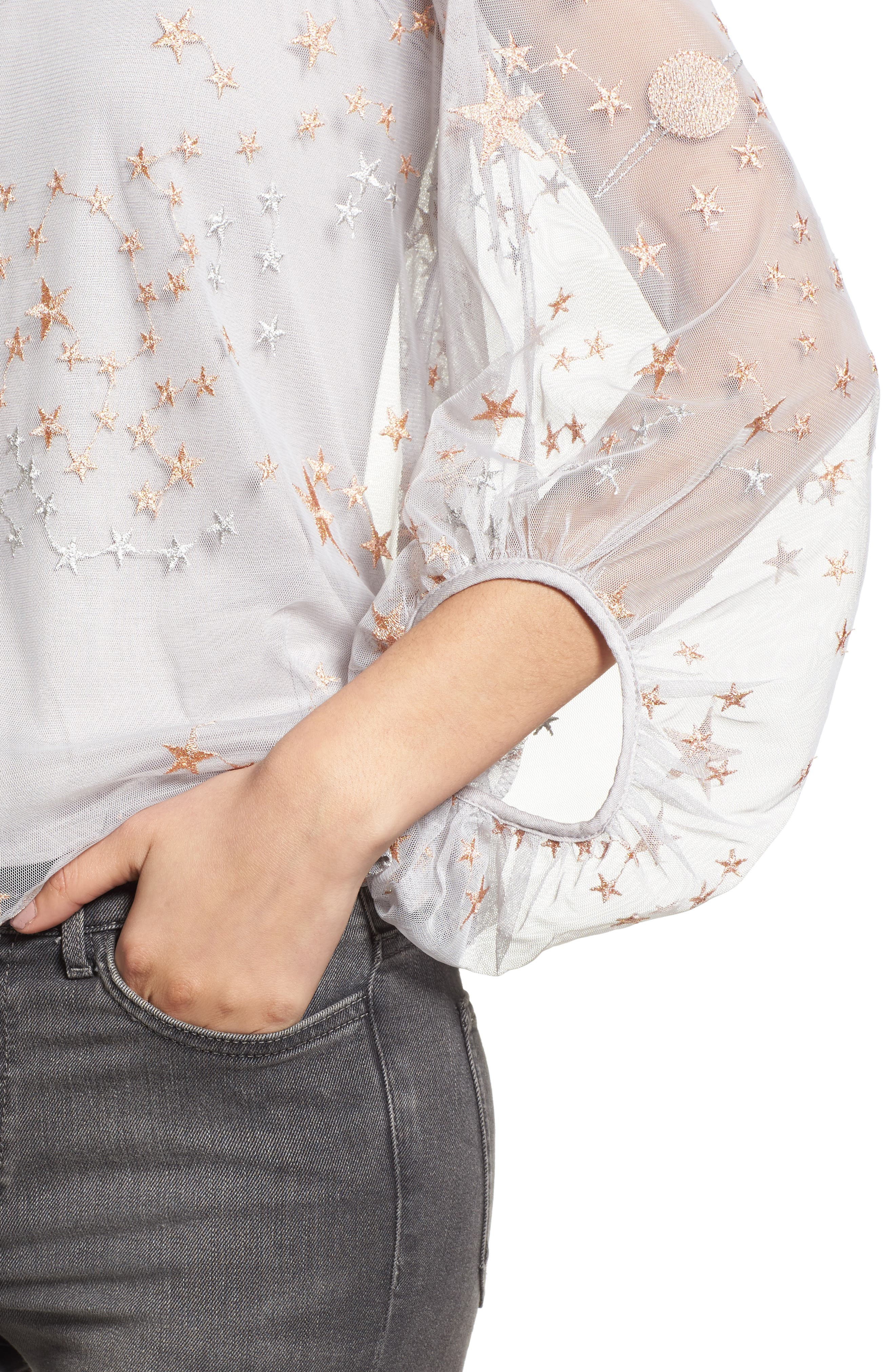 Embroidered Top,                             Alternate thumbnail 4, color,                             040