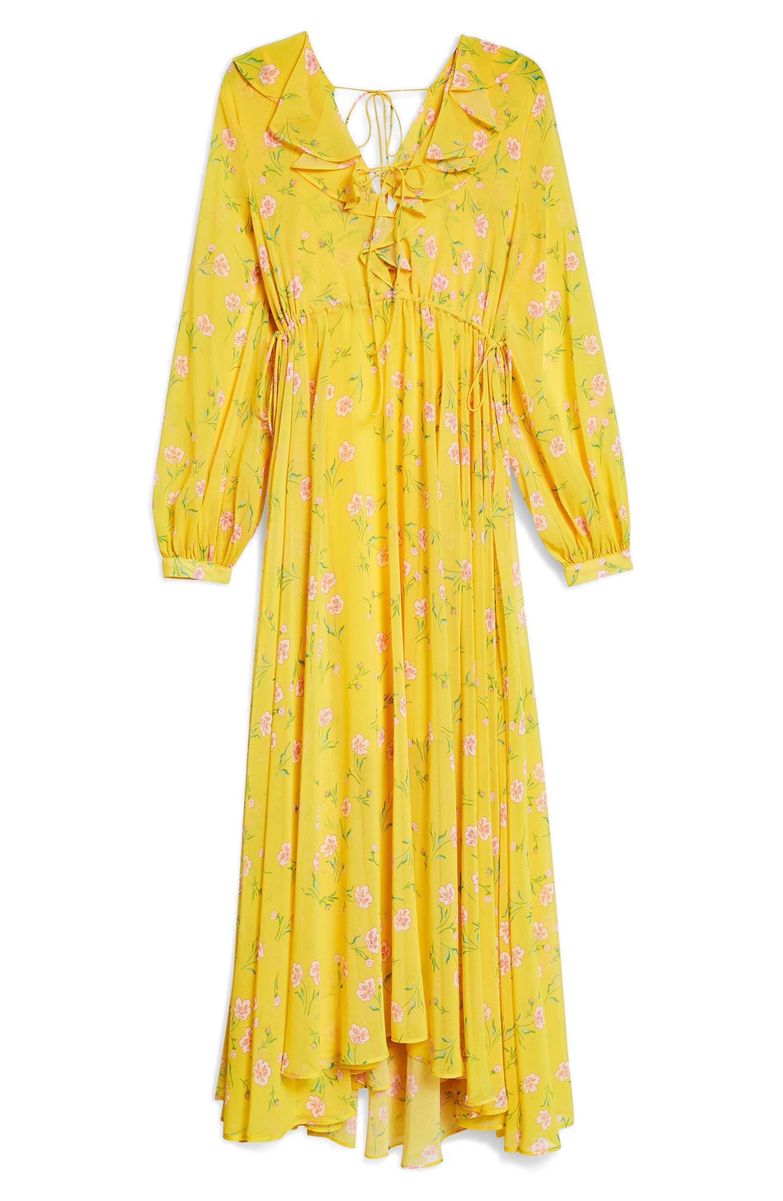 Margot Floral Maxi Dress,                             Alternate thumbnail 4, color,                             700