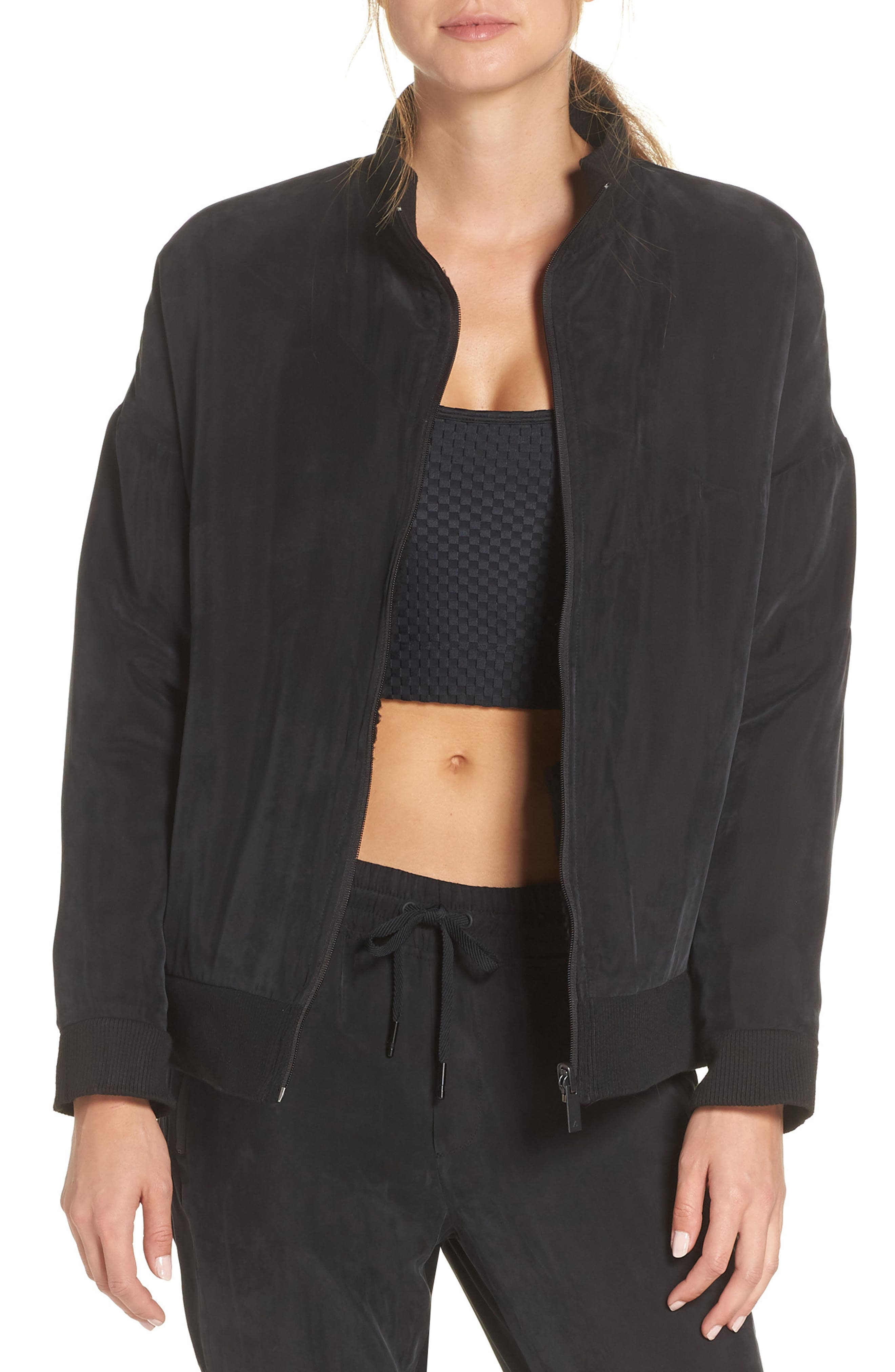 Arcs Reversible Bomber Jacket,                         Main,                         color, BLACK