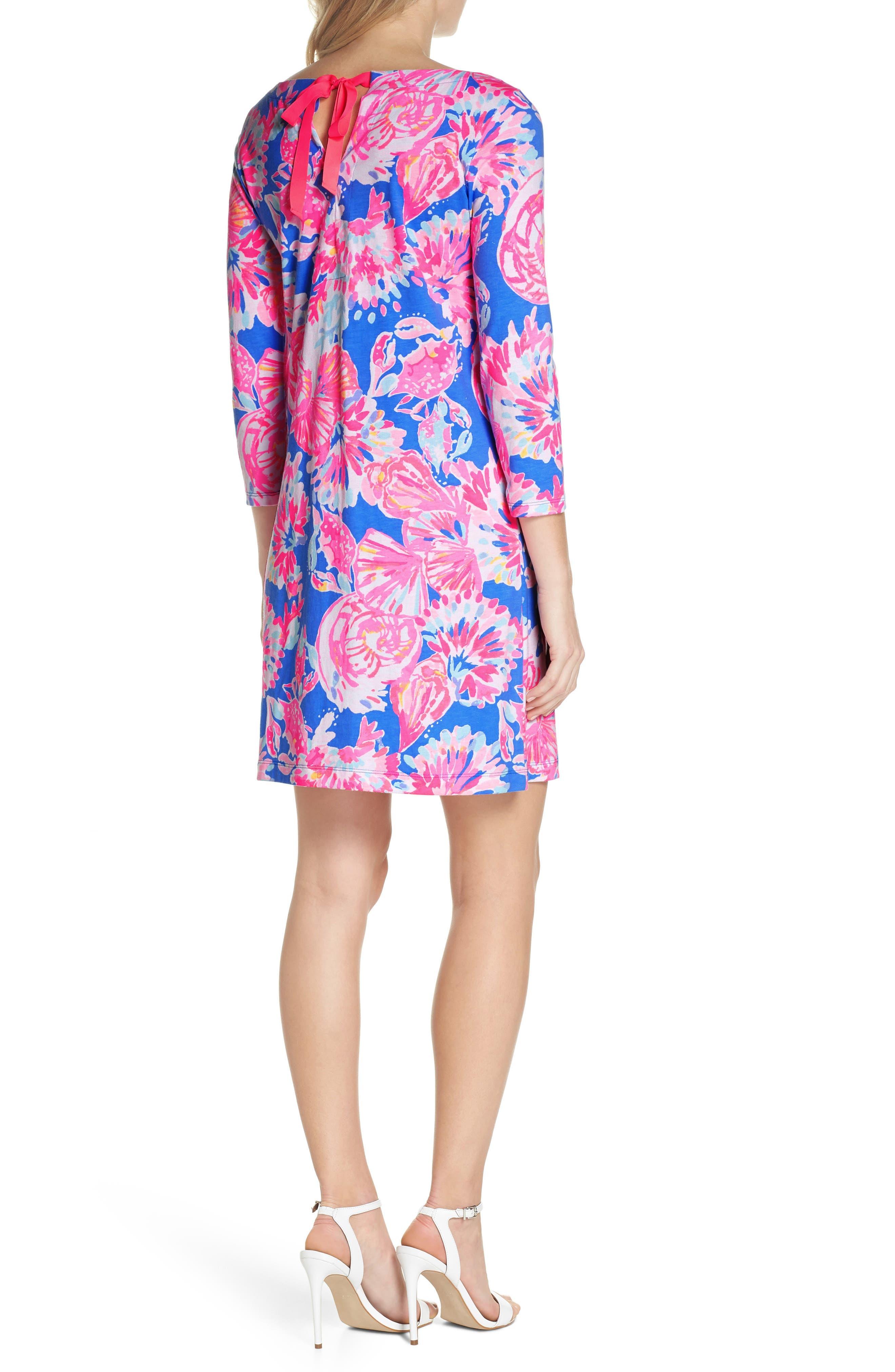 Noelle Floral Shift Dress,                             Alternate thumbnail 2, color,                             650