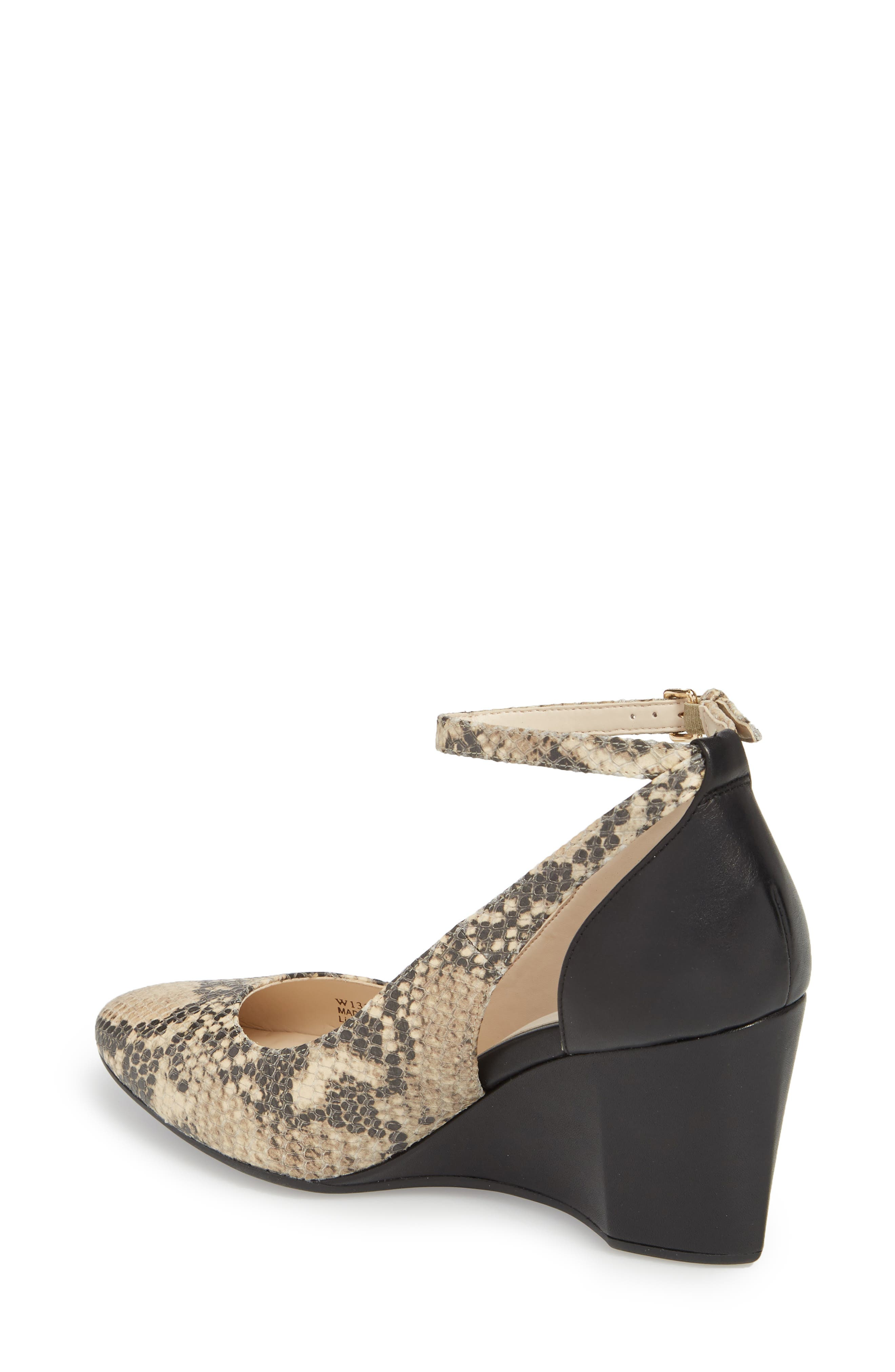 Lacey Cutout Wedge Pump,                             Alternate thumbnail 2, color,                             SNAKE PRINT LEATHER