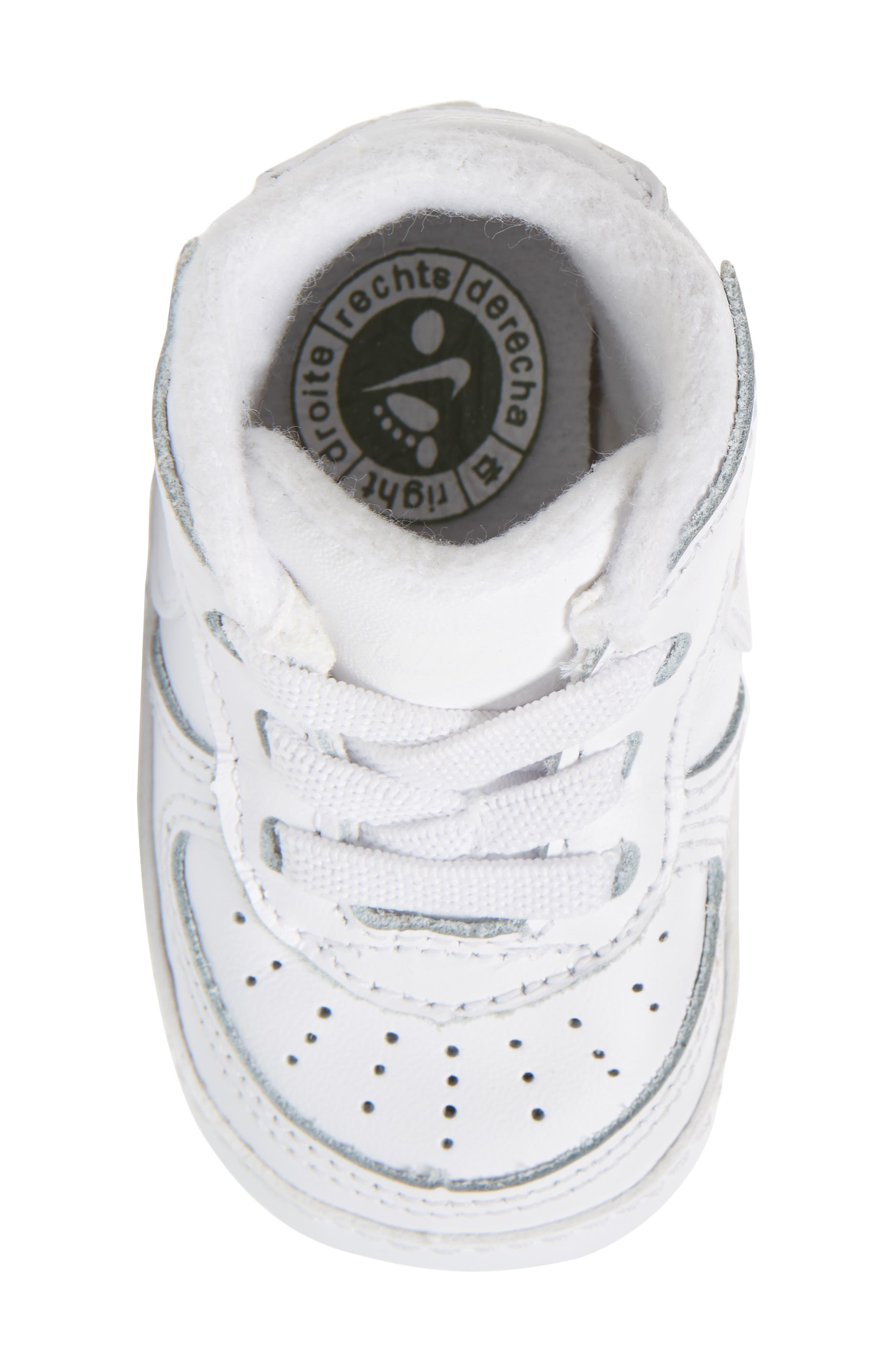 NIKE,                             Air Force 1 Sneaker,                             Alternate thumbnail 5, color,                             WHITE/ WHITE/ WHITE