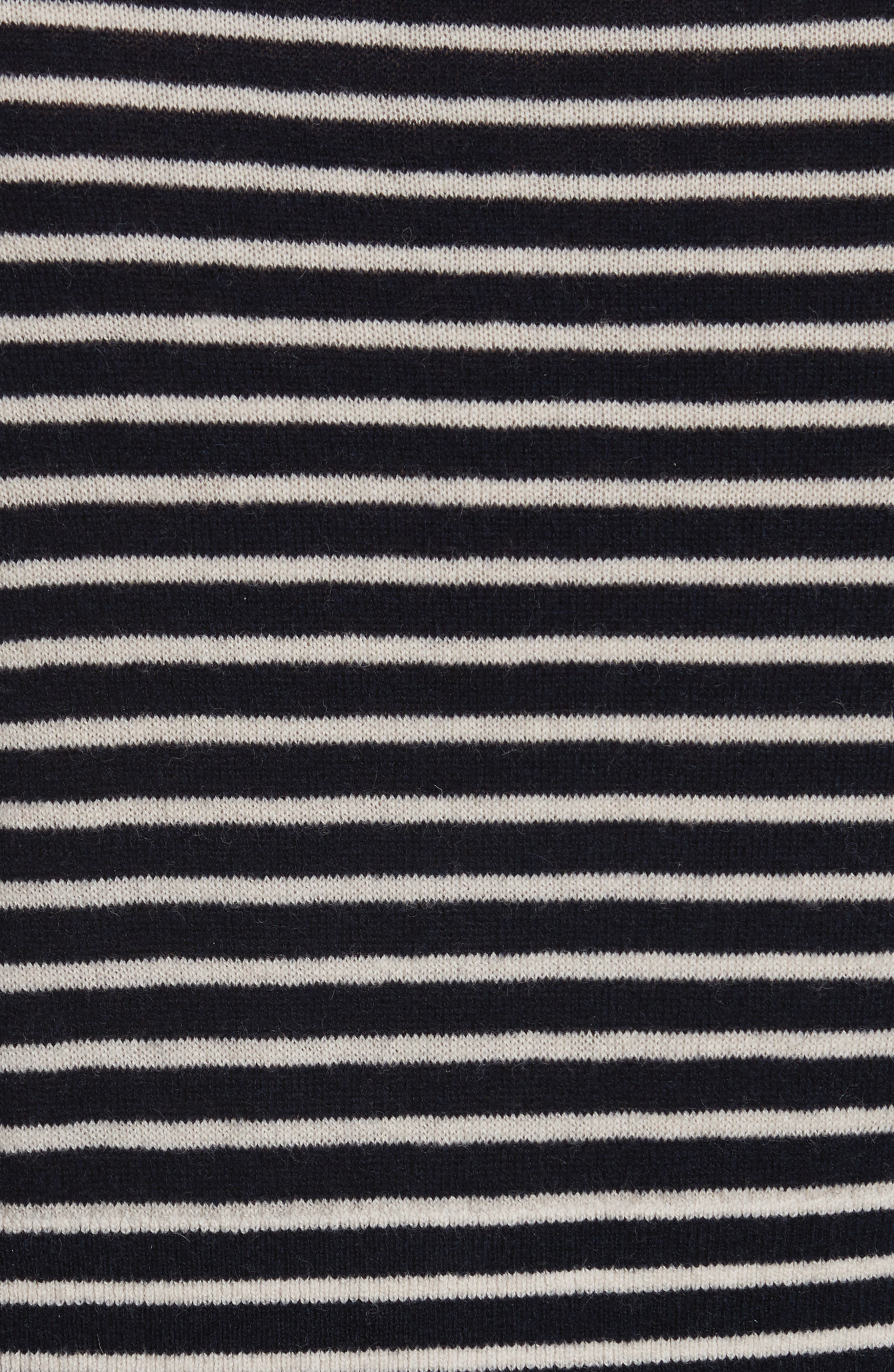 Stripe Stretch Wool Turtleneck,                             Alternate thumbnail 5, color,                             432