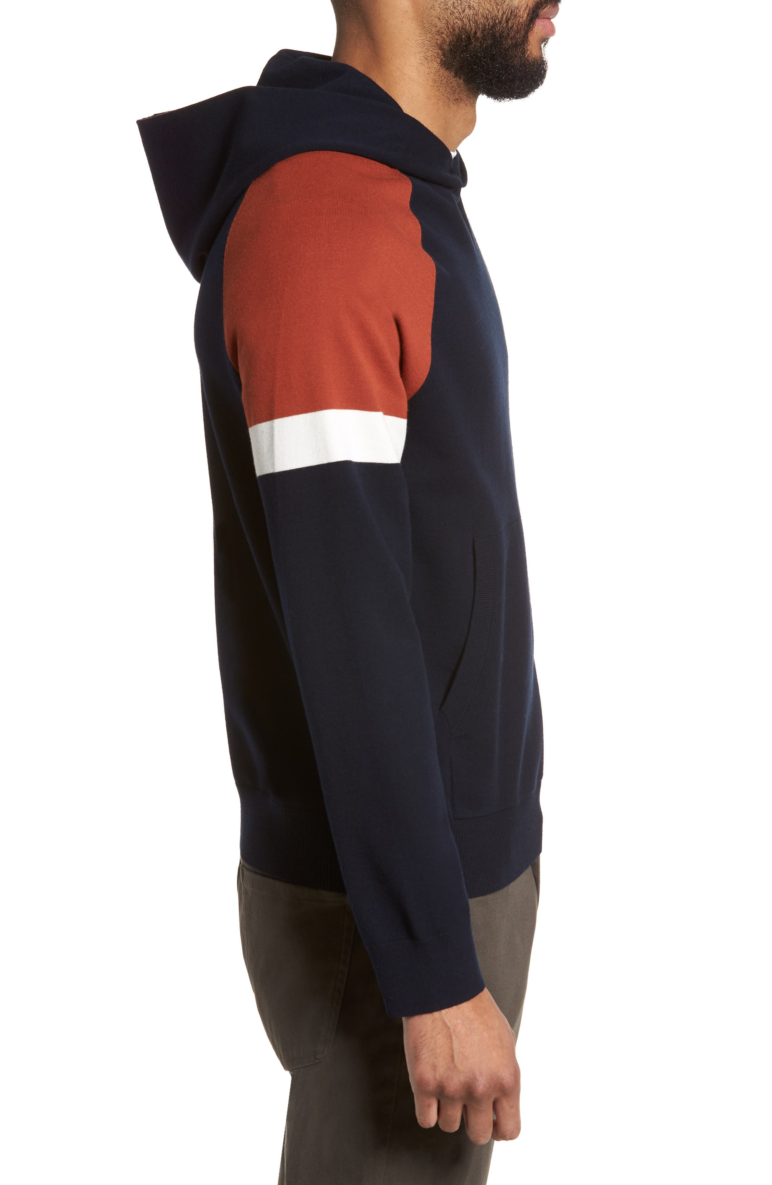 Colorblocked Pullover Hoodie,                             Alternate thumbnail 6, color,