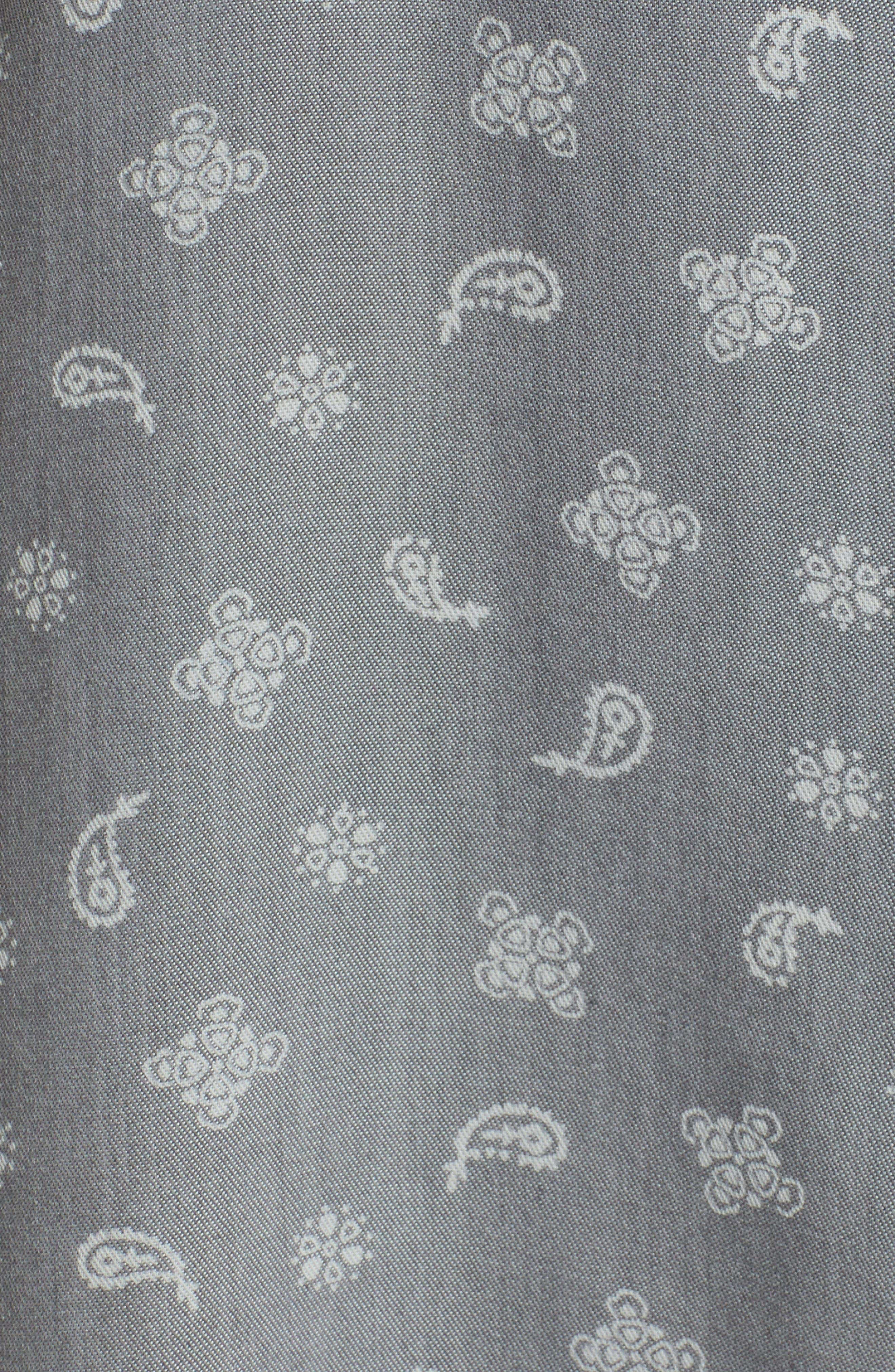 Cold Shoulder Paisley Shirt,                             Alternate thumbnail 5, color,