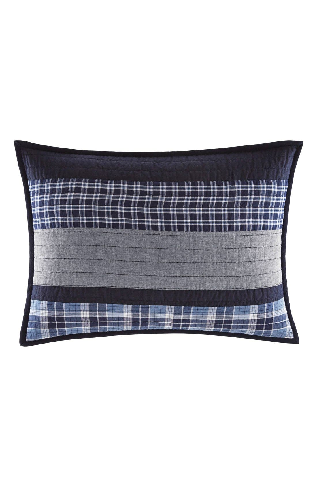 'Adleson' Quilted Standard Sham,                         Main,                         color, NAVY