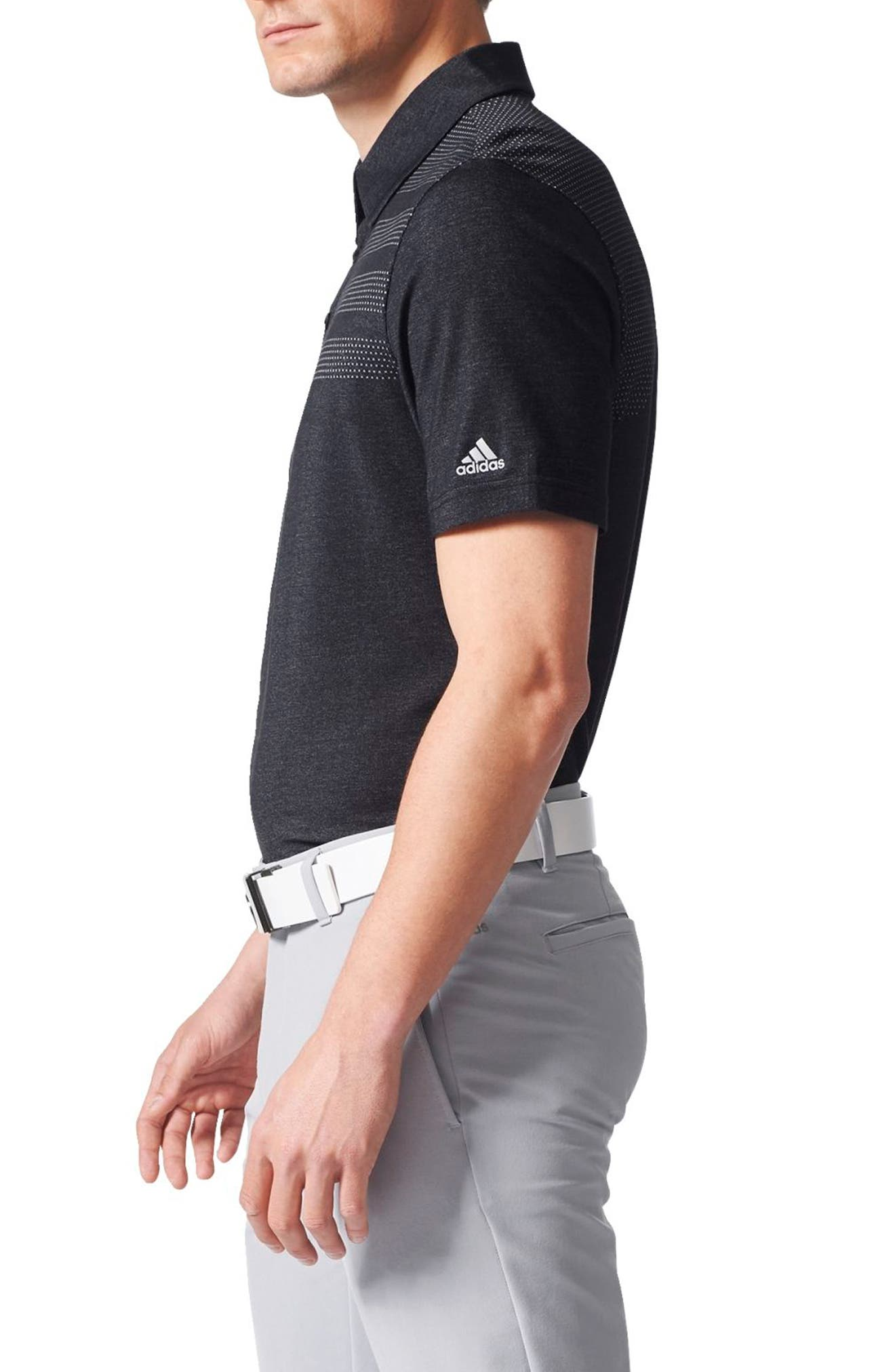 Climacool<sup>®</sup> 3-Stripes Mapped Polo,                             Alternate thumbnail 3, color,                             001