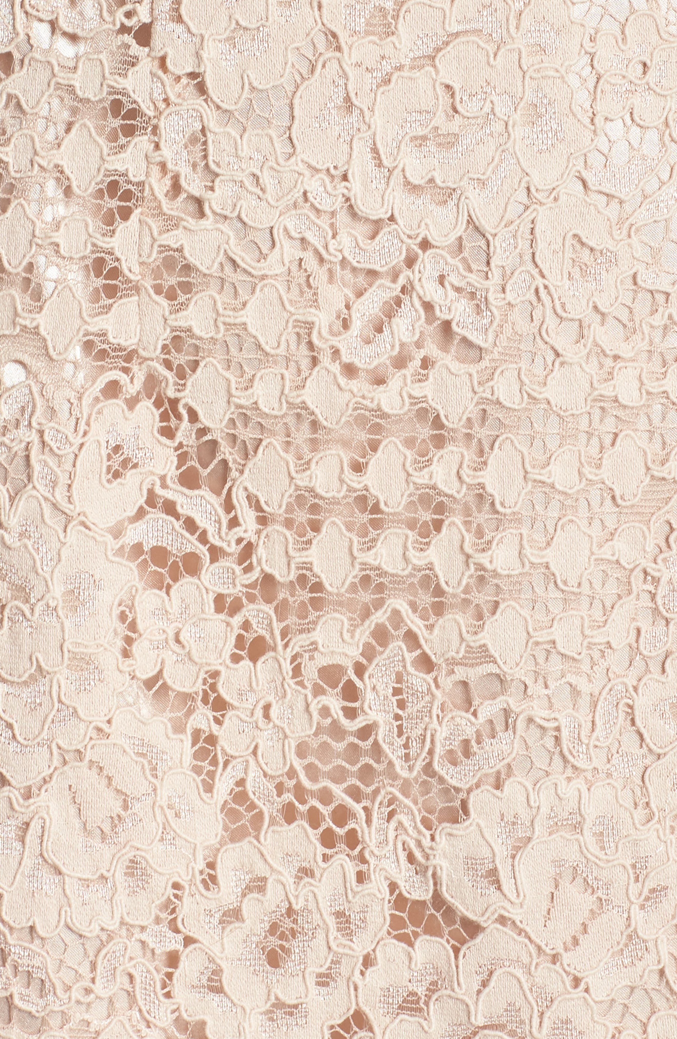 Ruched Sleeve Lace Dress,                             Alternate thumbnail 6, color,                             PINK BLUSH