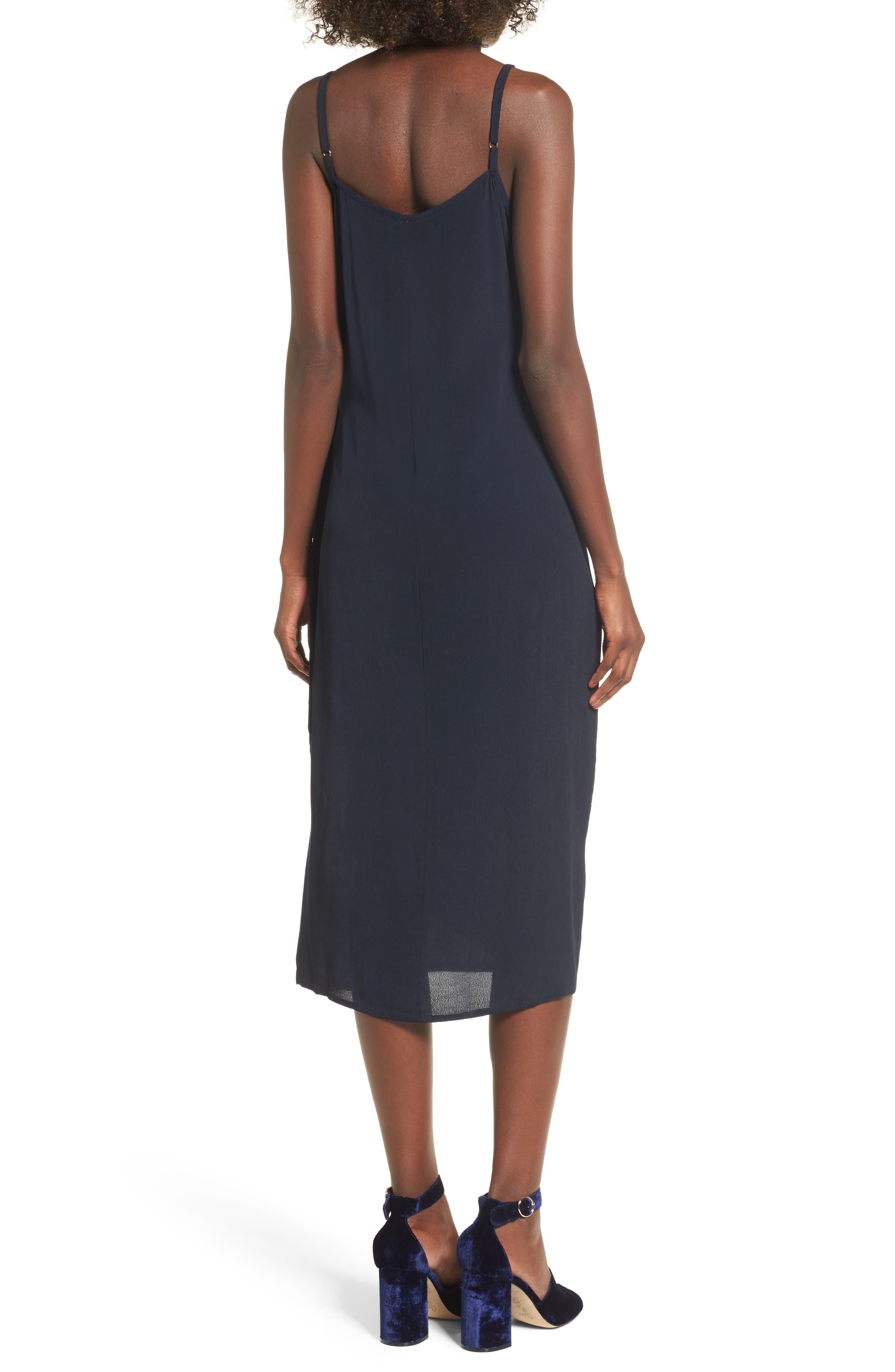 Juel Side Tie Midi Dress,                             Alternate thumbnail 2, color,                             400