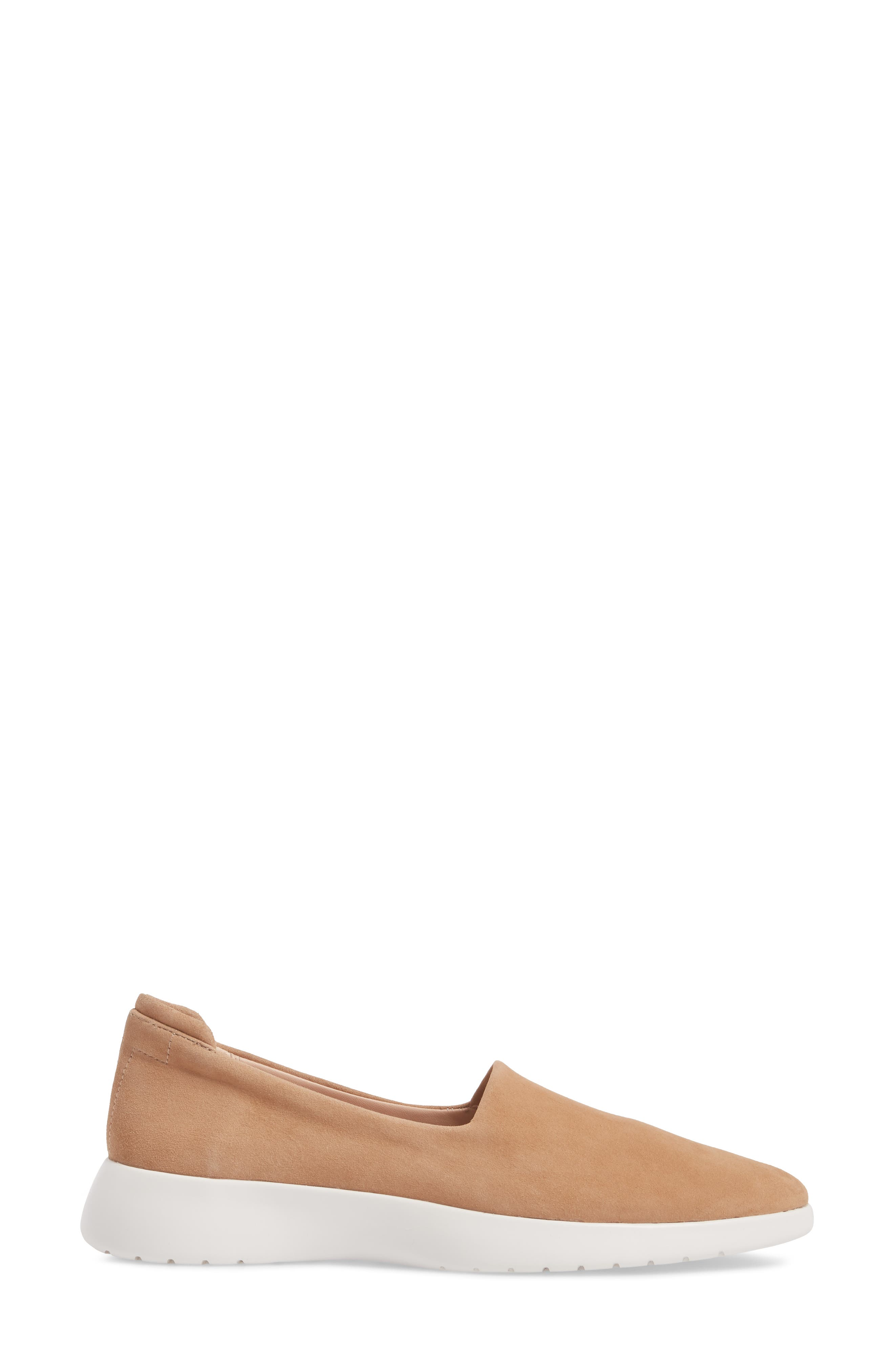 Darla Slip-On Sneaker,                             Alternate thumbnail 3, color,                             SOFT BEIGE SUEDE