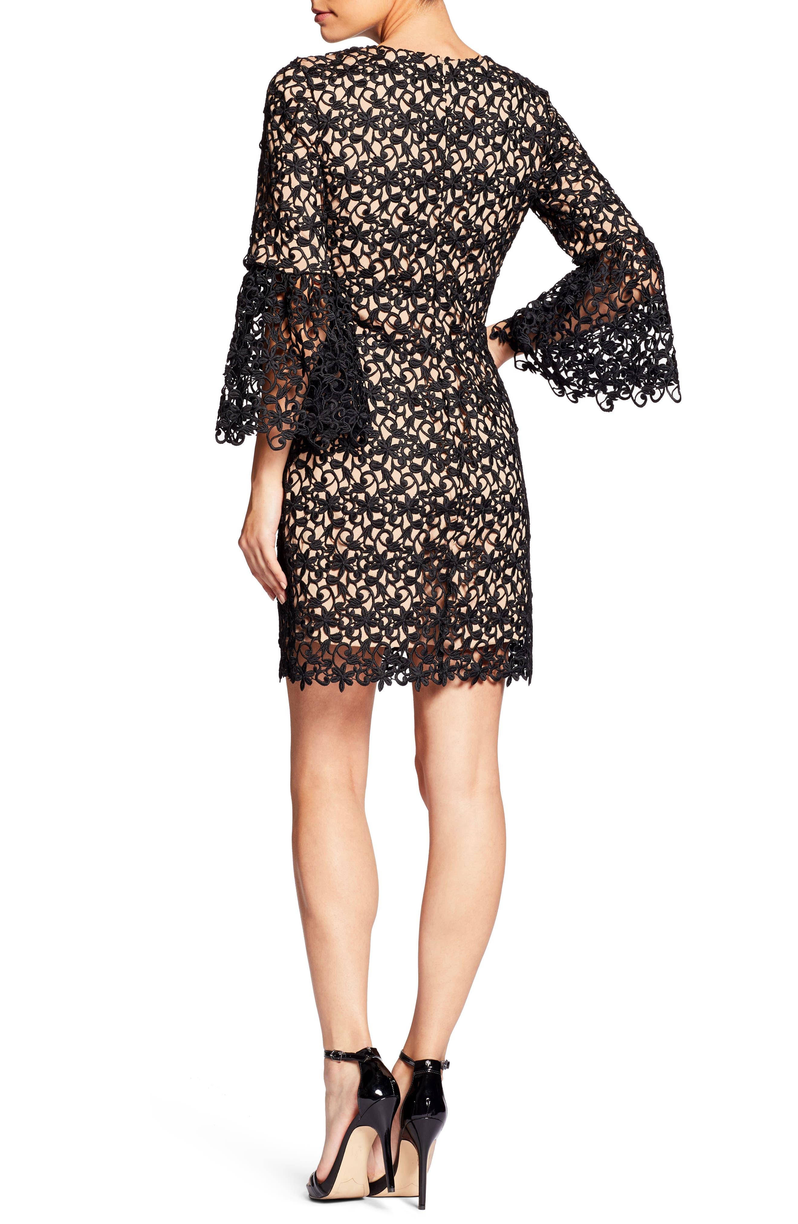 Crochet Shift Dress,                             Alternate thumbnail 2, color,                             004