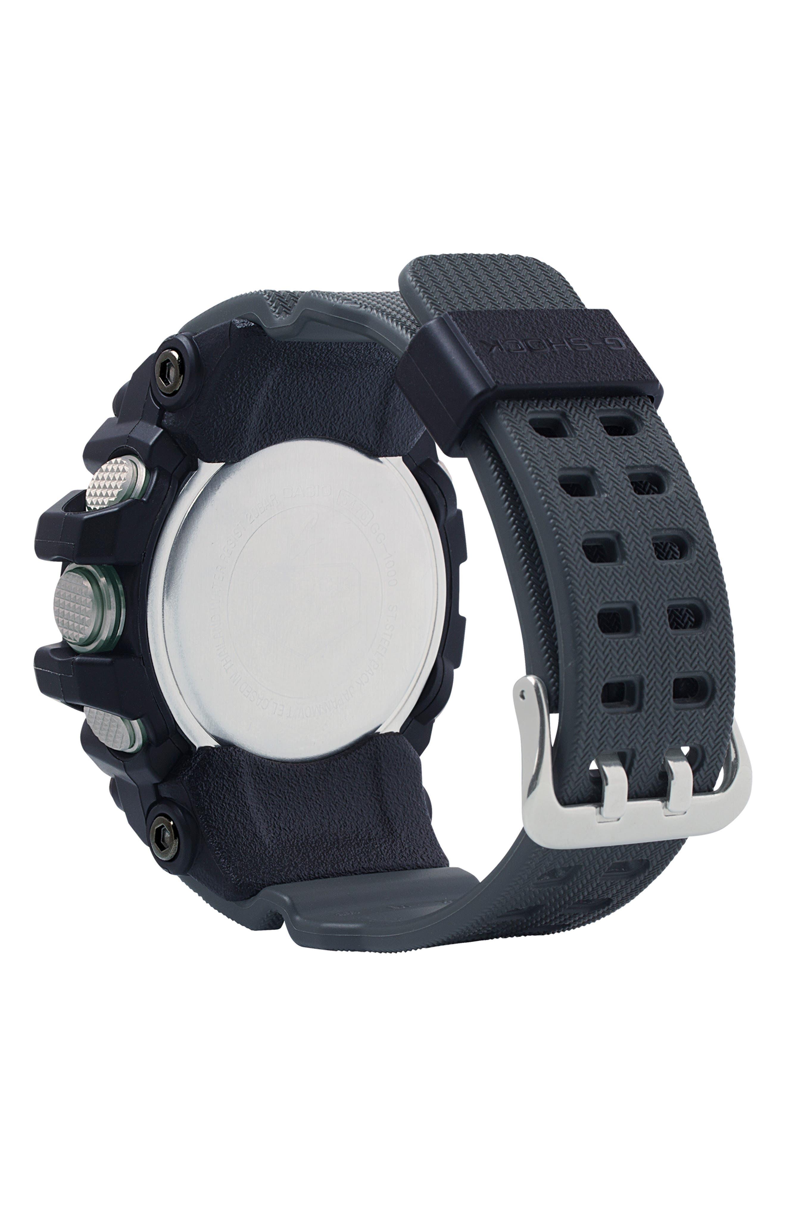 G-Shock Mudmaster Casio Resin Ana-Digi Watch, 55mm,                             Alternate thumbnail 2, color,                             BLACK MULTI