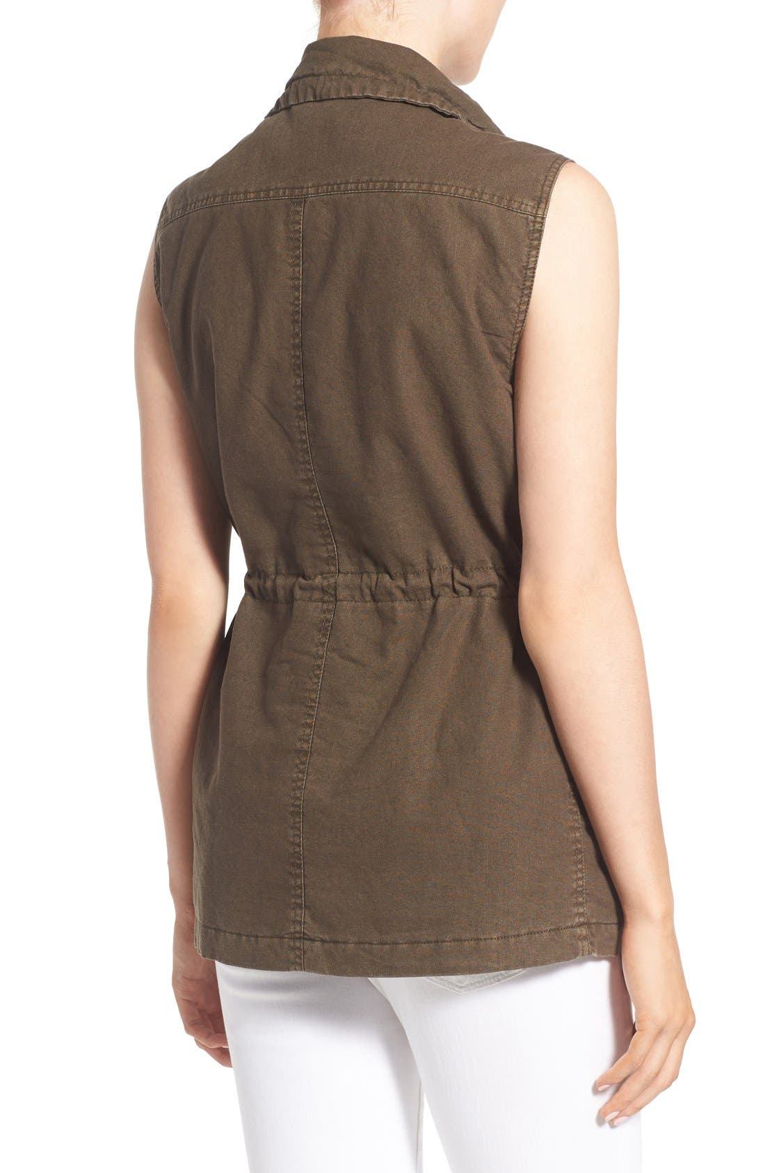 Cotton & Linen Military Vest,                             Alternate thumbnail 2, color,                             308