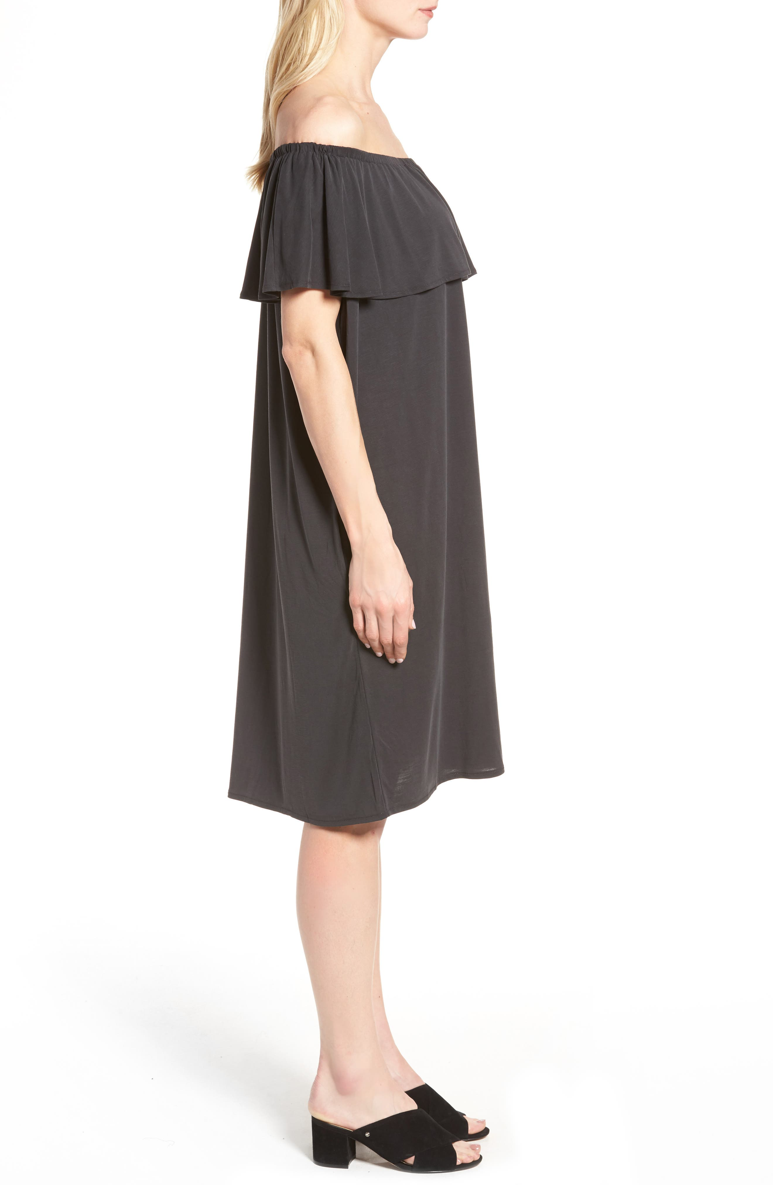 Boardwalk Convertible Jersey Dress,                             Alternate thumbnail 3, color,                             006