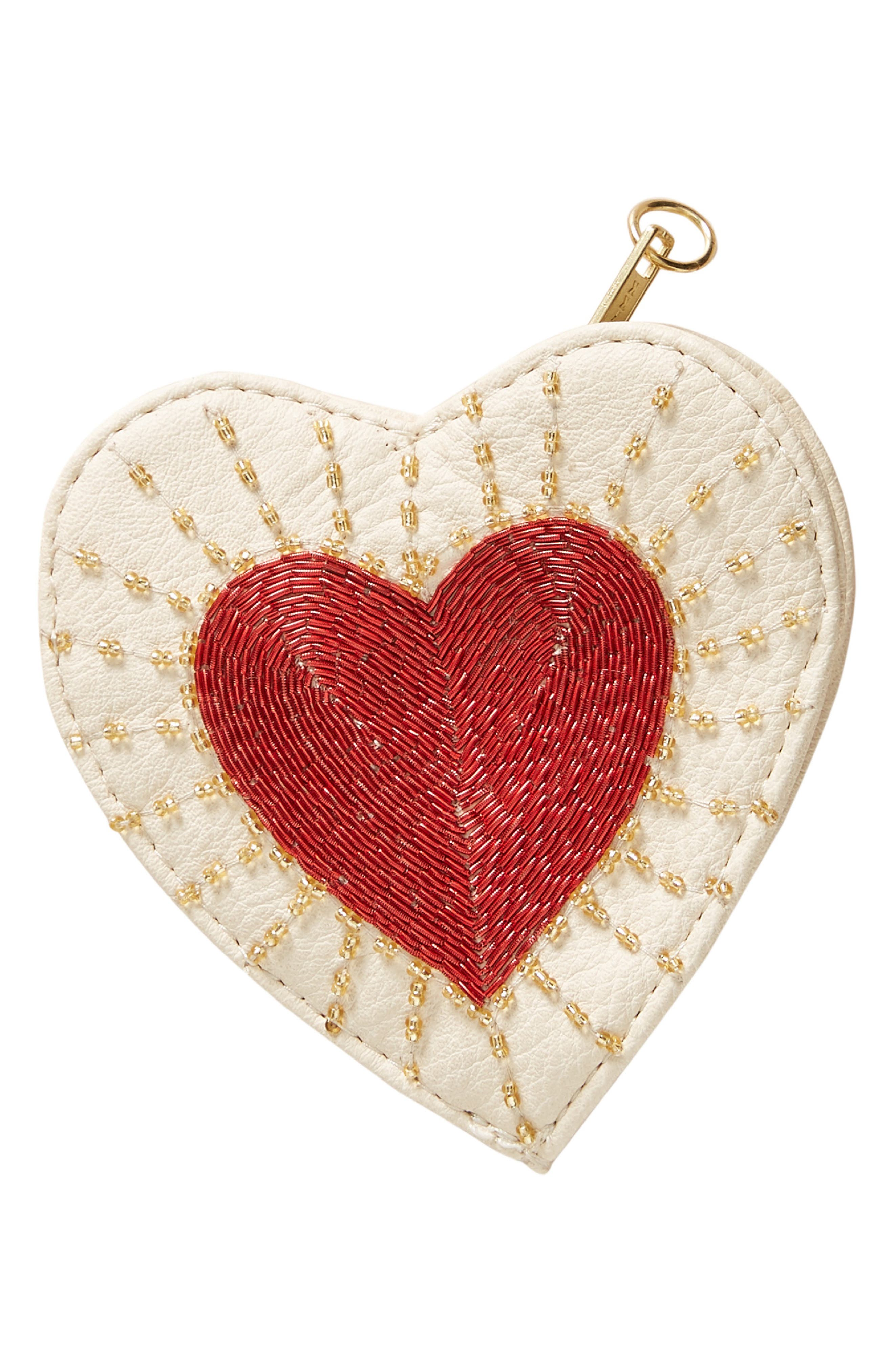 Embellished Heart Pouch,                             Alternate thumbnail 3, color,                             901