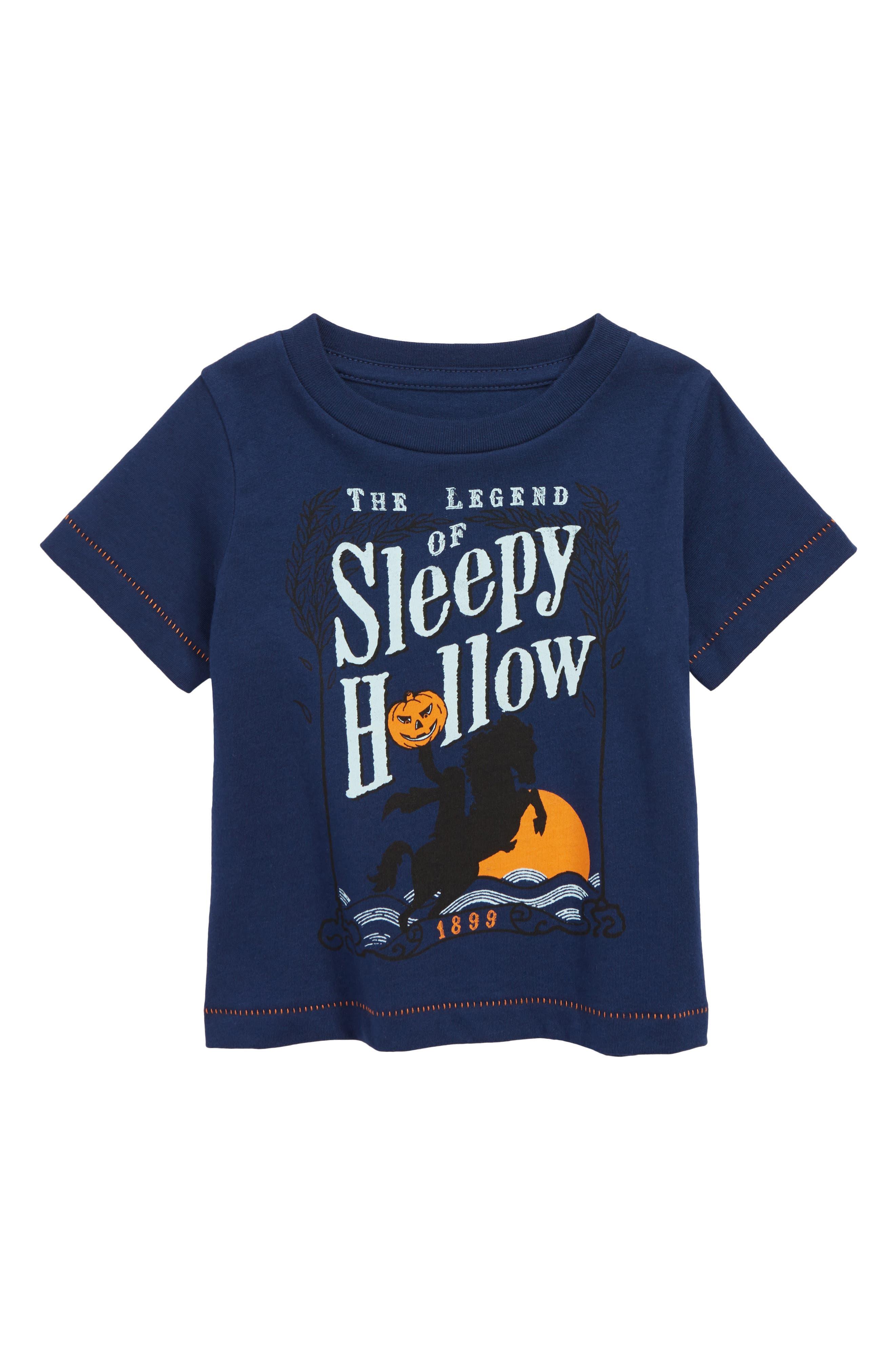 Peek Sleepy Hollow Graphic T-Shirt,                             Main thumbnail 1, color,                             NAVY