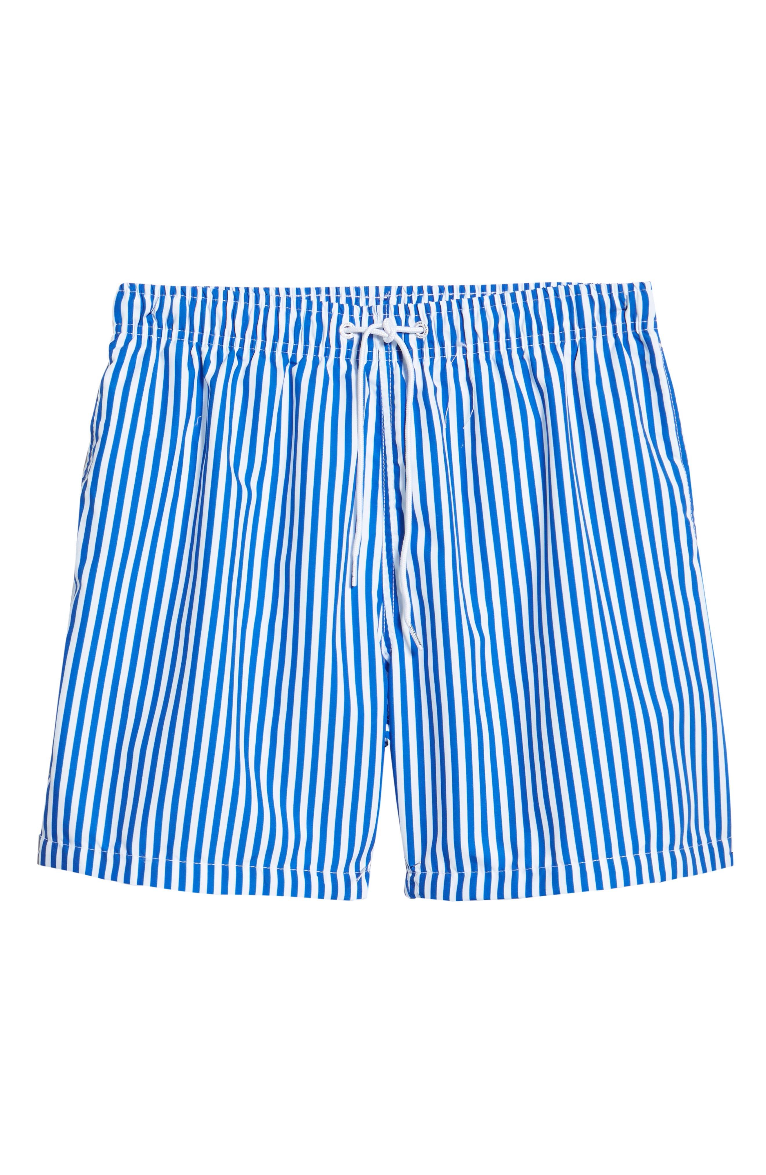 Deck Stripes Swim Trunks,                             Alternate thumbnail 6, color,                             400