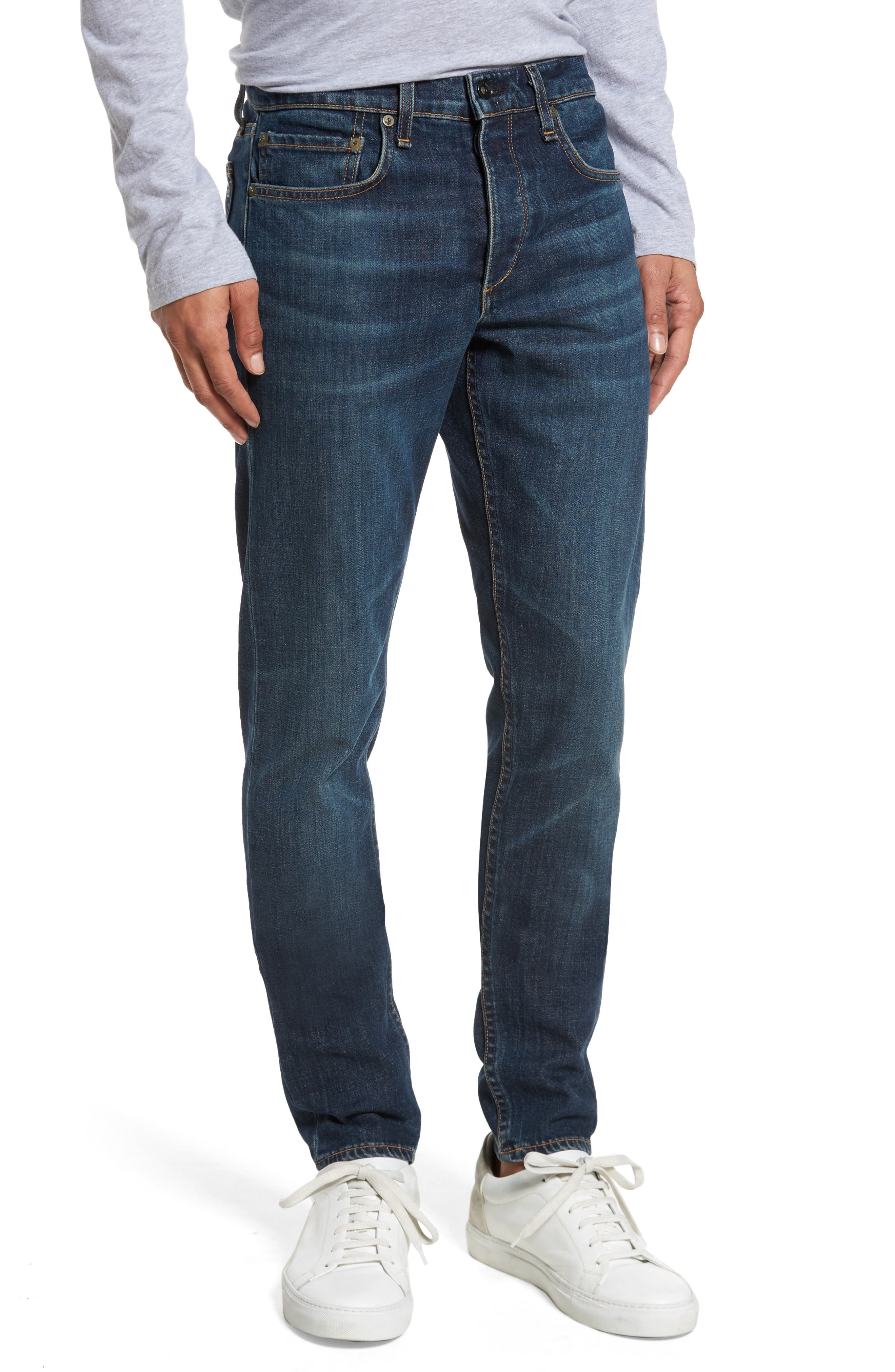 Fit 1 Skinny Fit Jeans,                             Main thumbnail 1, color,                             LINDEN