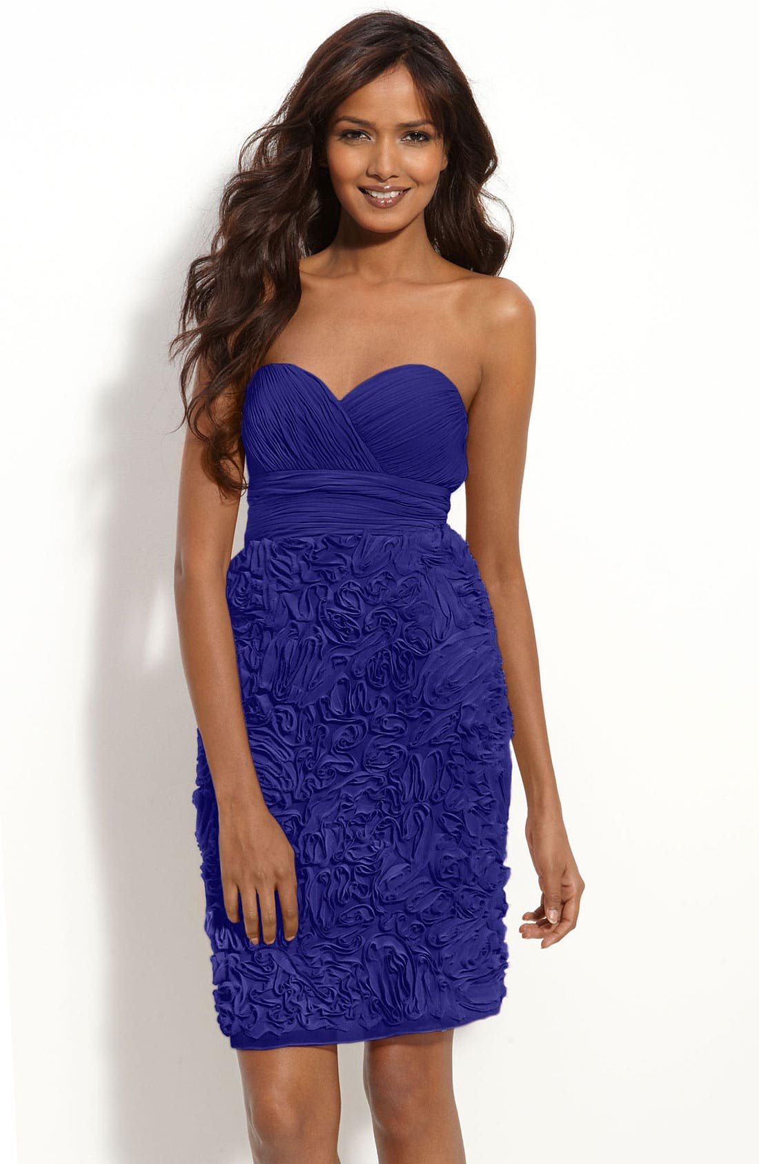Strapless Chiffon Dress,                             Main thumbnail 2, color,