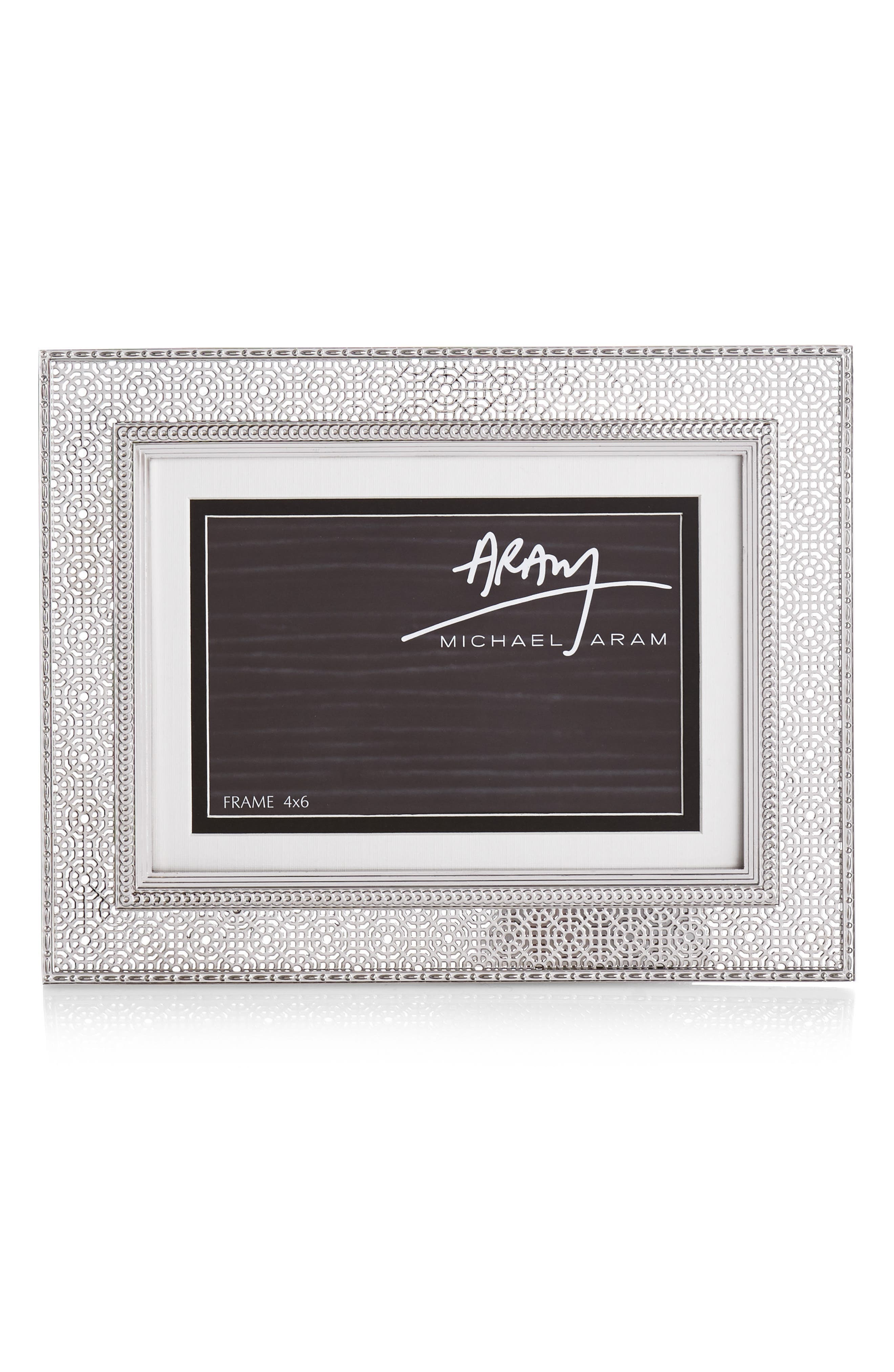 Palace Picture Frame, Main, color, SILVER