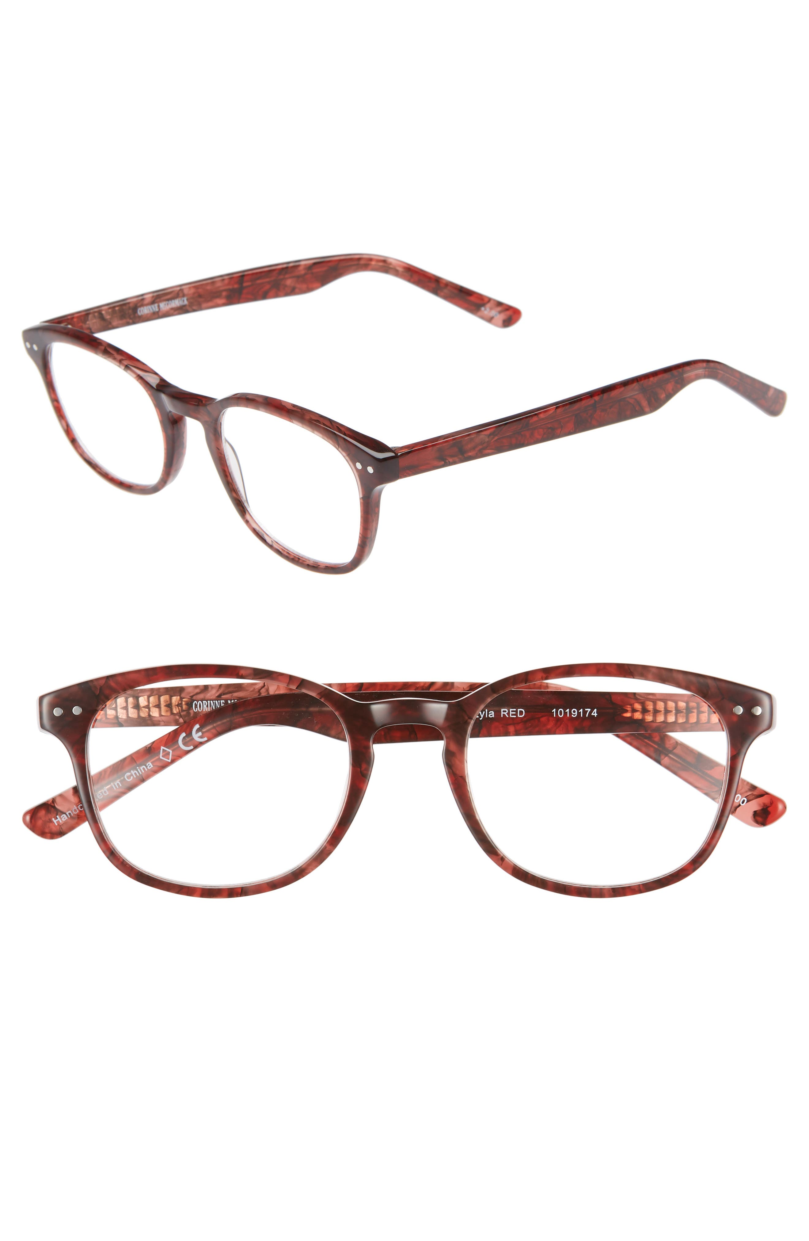 CORINNE MCCORMACK 'Lyla' 52Mm Reading Glasses - Rust Red