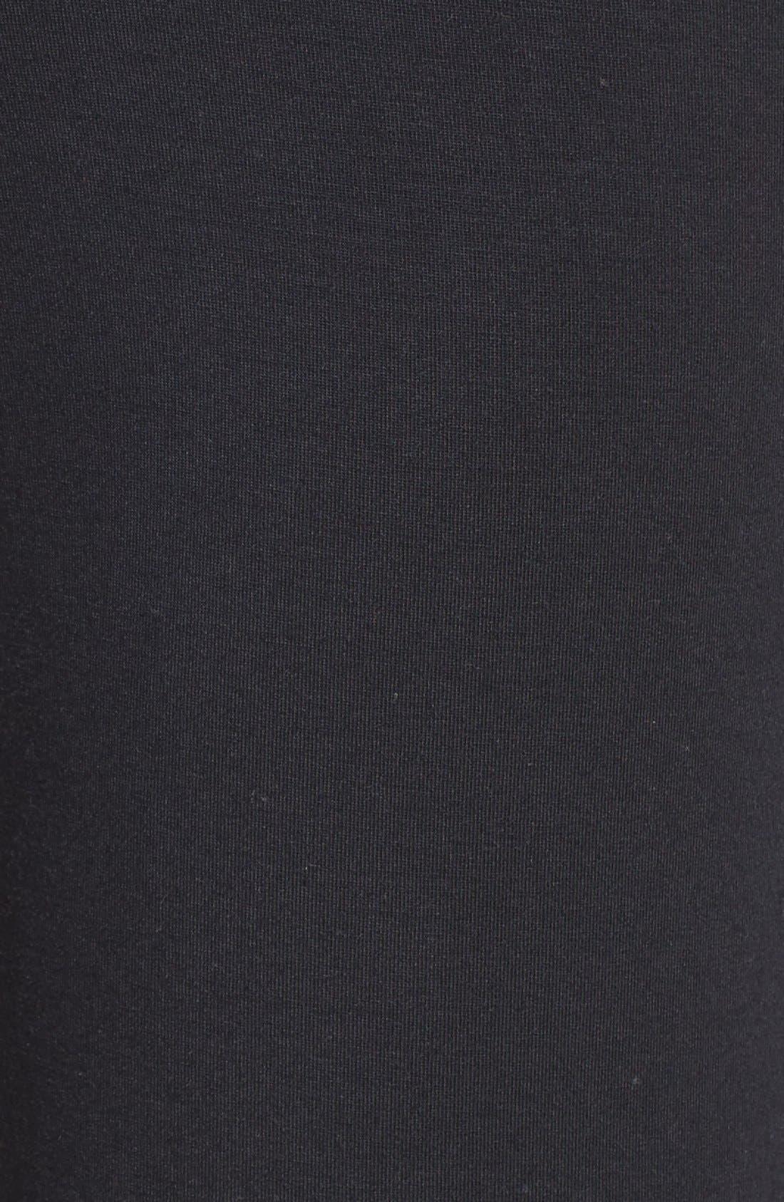Jersey Pajama Pants,                             Alternate thumbnail 6, color,                             BLACK