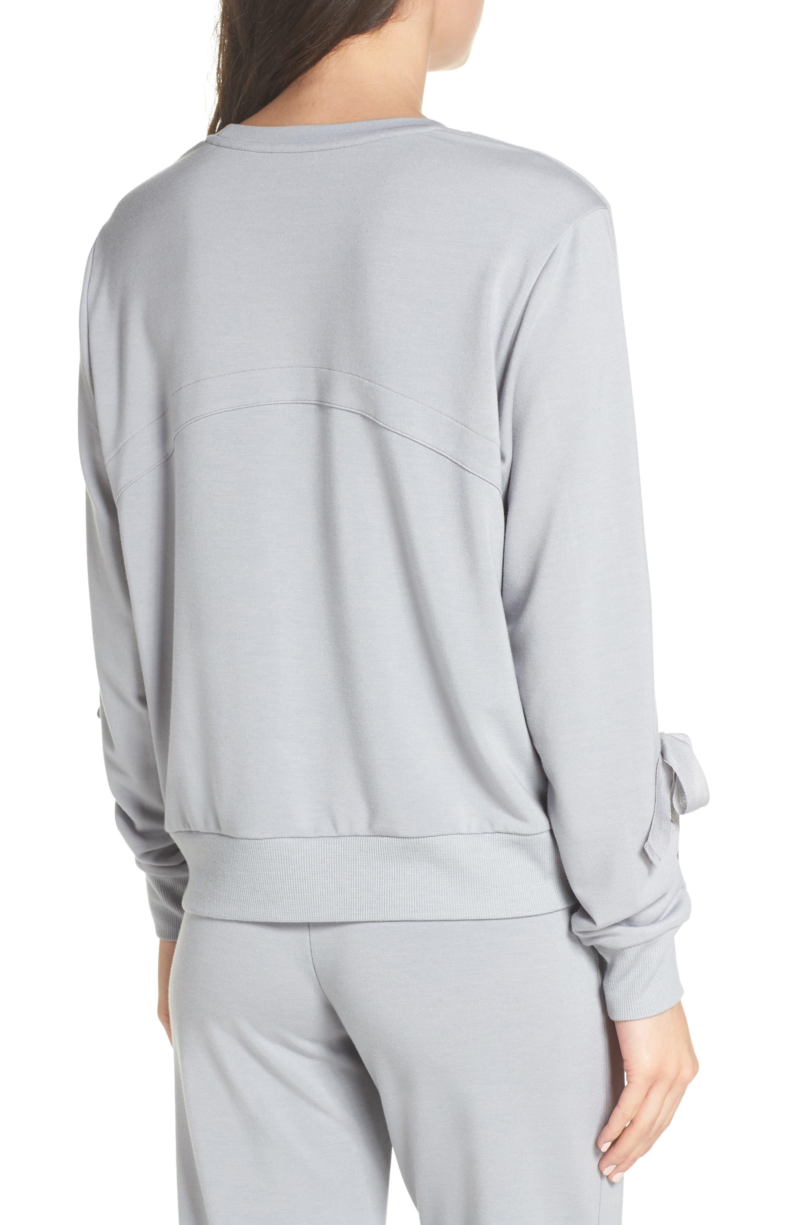 Gather Sleeve Sweatshirt,                             Alternate thumbnail 2, color,                             GREY WOLF