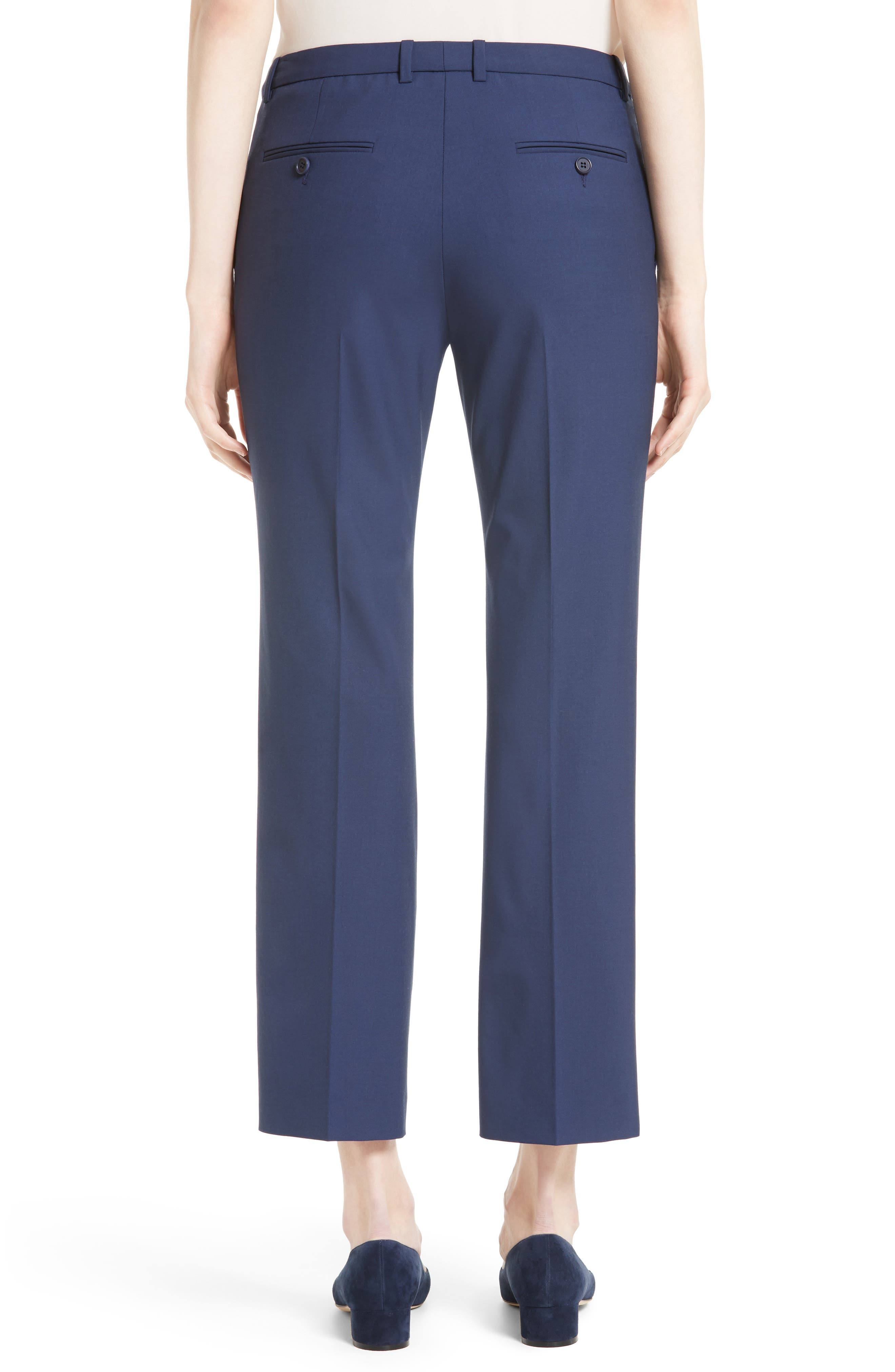 Hartsdale Good Wool Crop Pants,                             Alternate thumbnail 4, color,