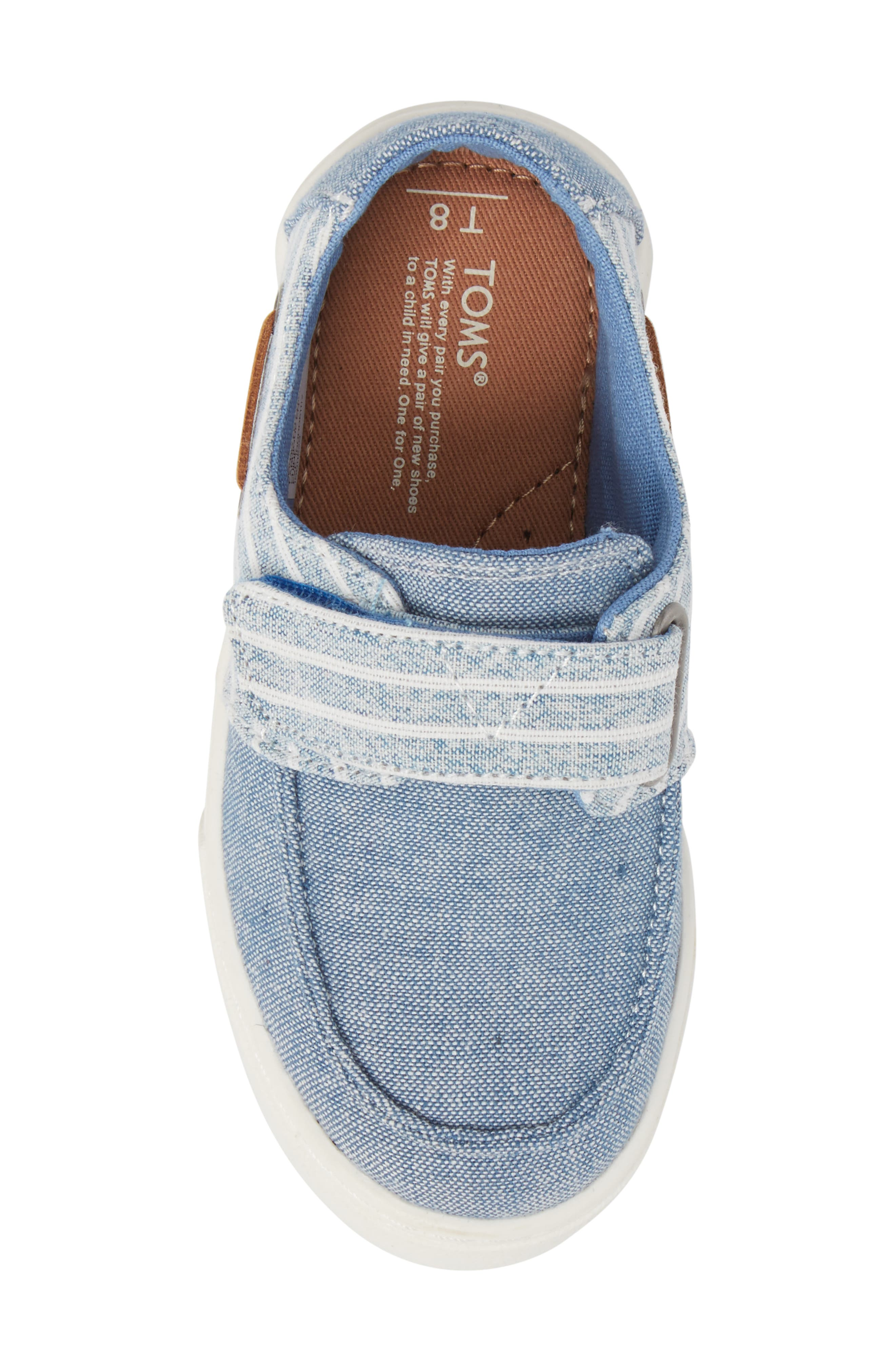 Culver Boat Shoe,                             Alternate thumbnail 5, color,                             BLUE CHAMBRAY/ STRIPE