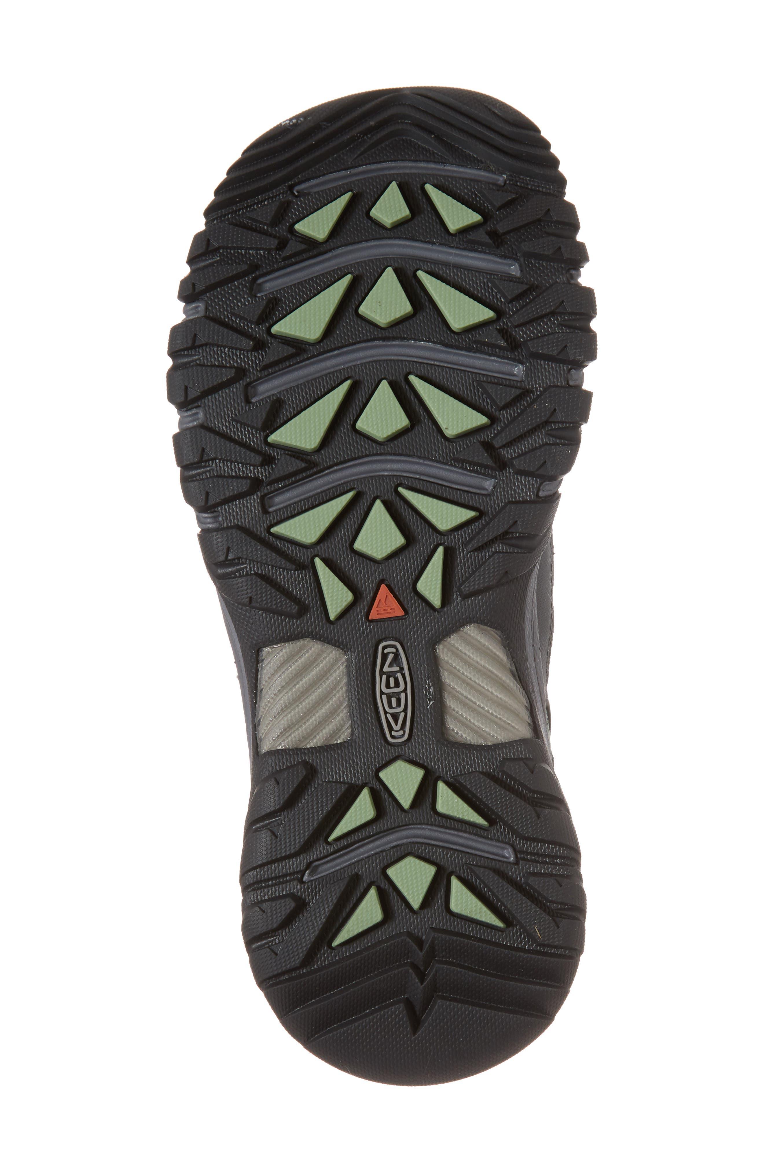 Targhee EXP Waterproof Hiking Shoe,                             Alternate thumbnail 6, color,                             STEEL GREY/ BASIL