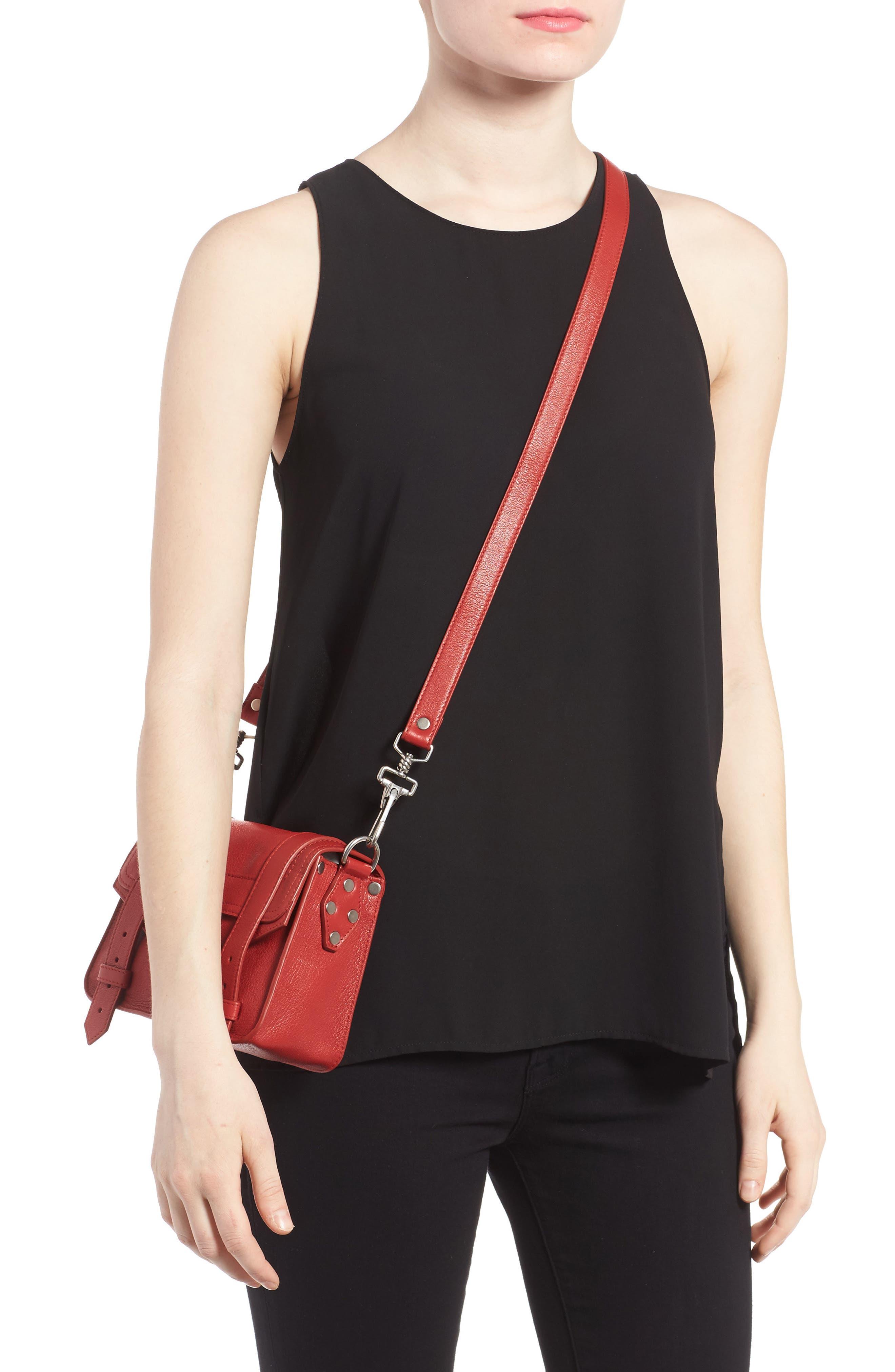 'Mini PS1' Lambskin Leather Crossbody Bag,                             Alternate thumbnail 8, color,