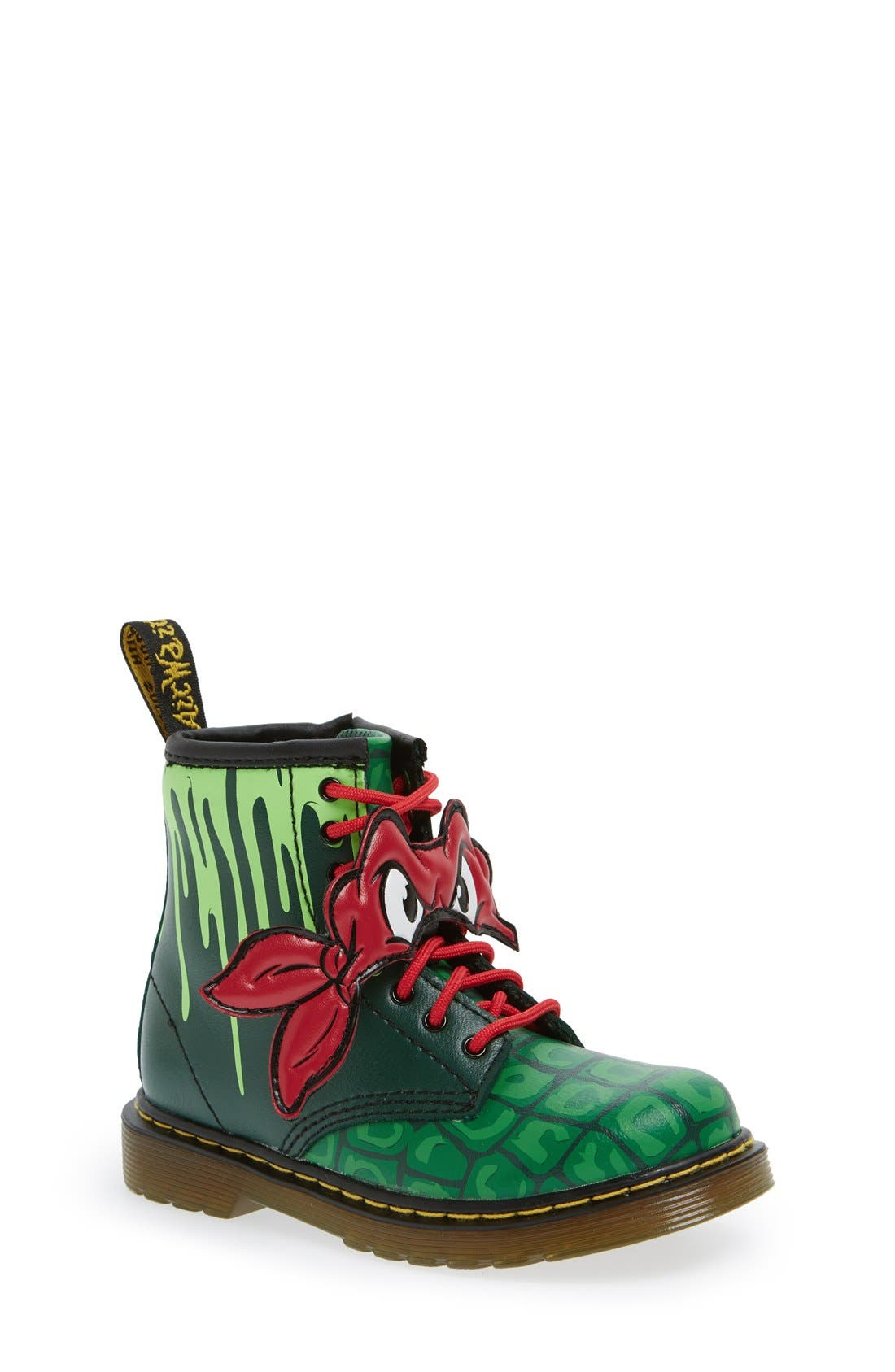 DR. MARTENS,                             'Teenage Mutant Ninja Turtles - Raph' Boot,                             Main thumbnail 1, color,                             313