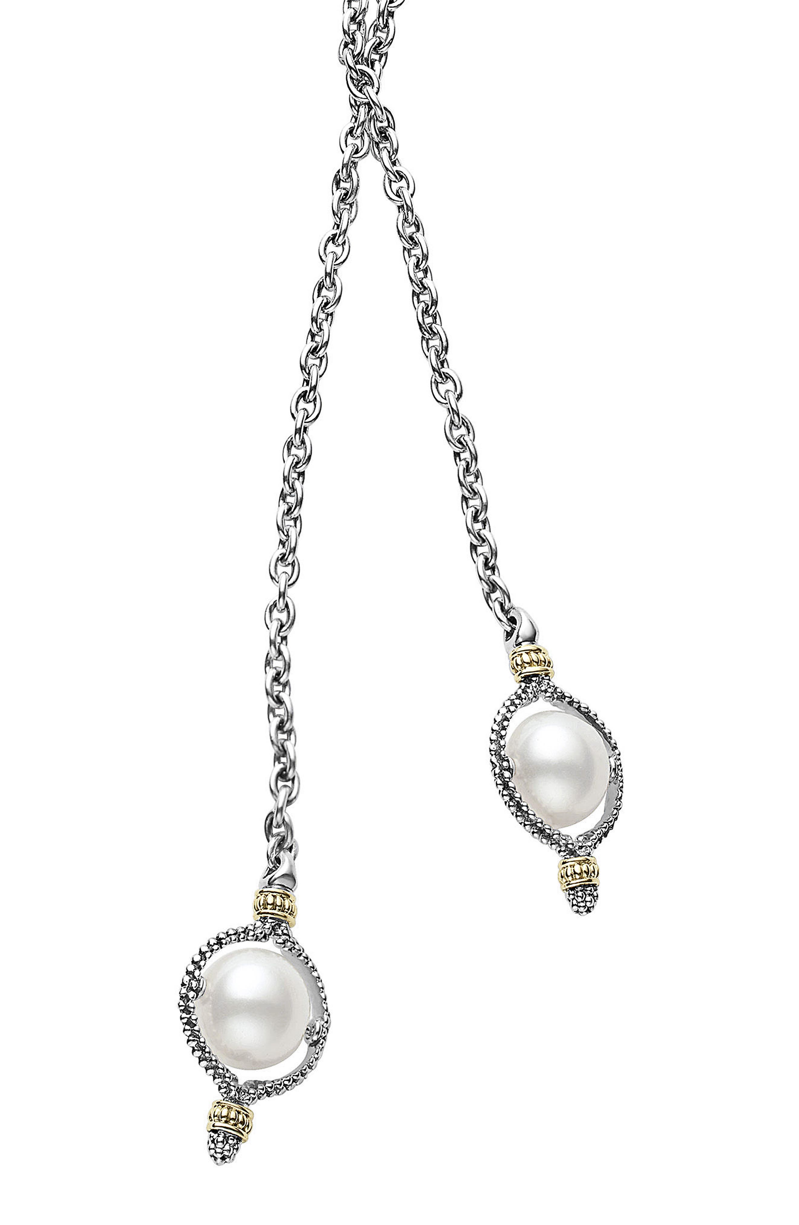 Luna Pearl Lariat Necklace,                             Main thumbnail 1, color,                             040