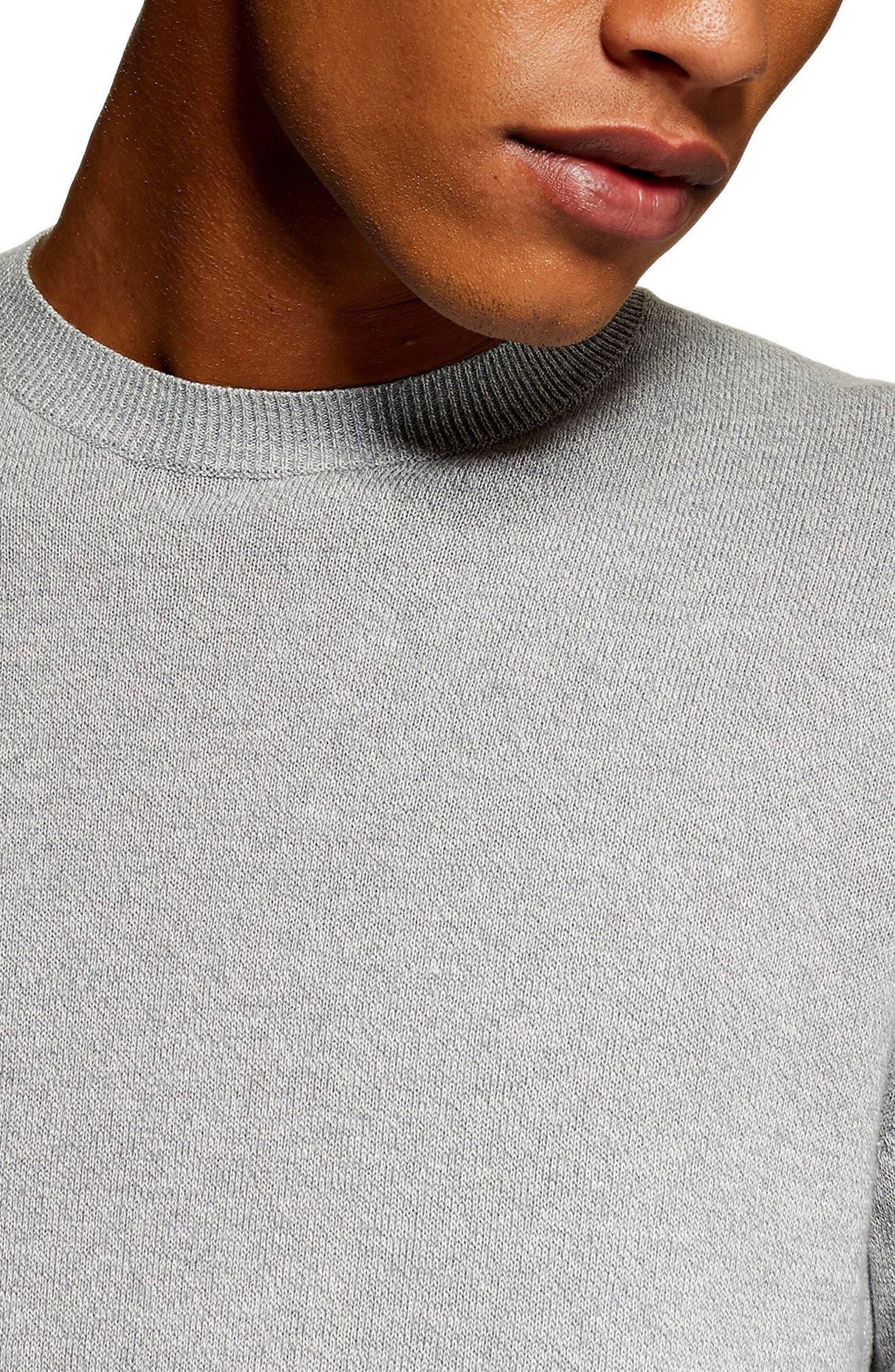 Marl Crewneck Sweater,                             Alternate thumbnail 3, color,                             CREAM