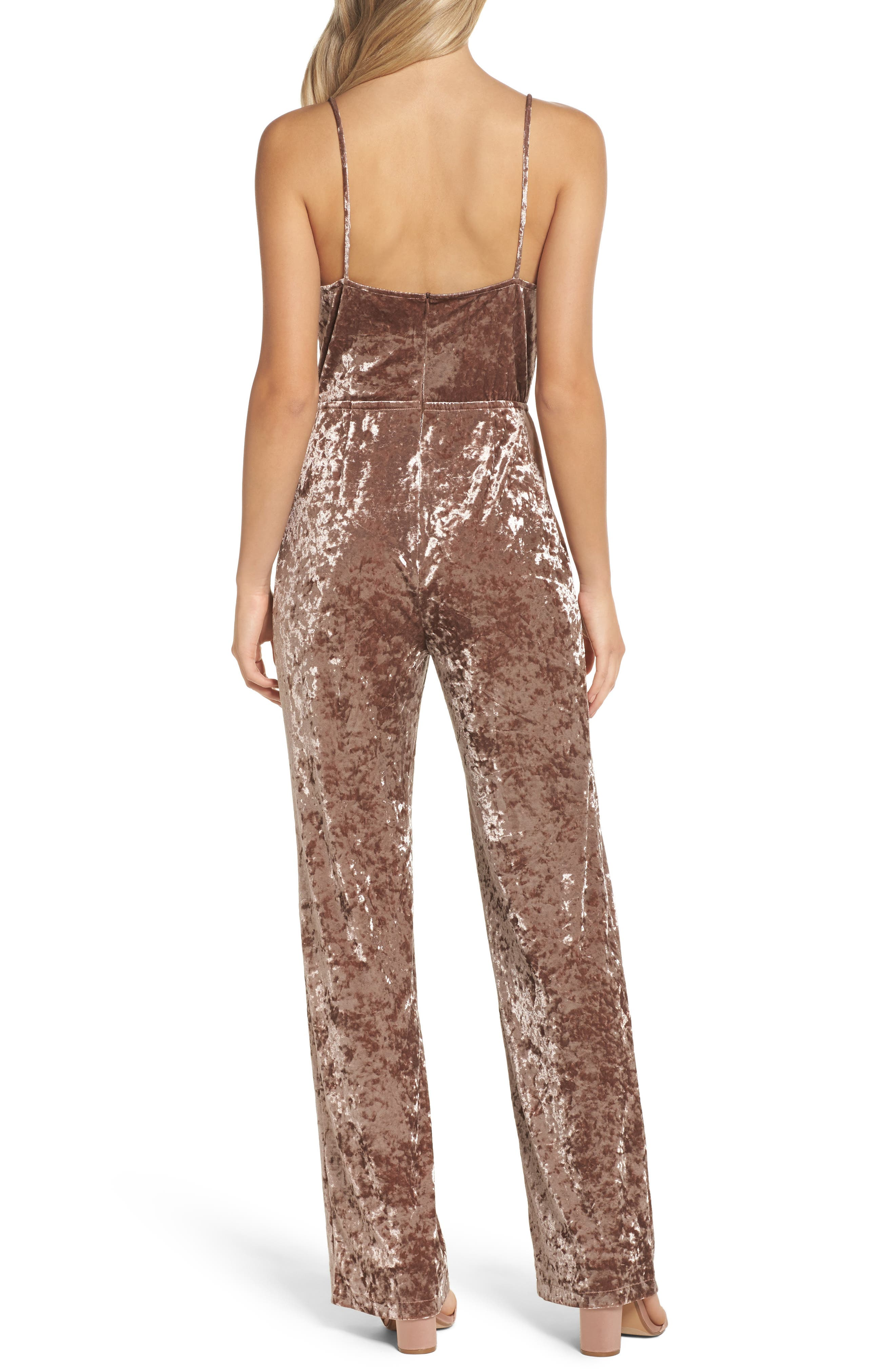 Cassandra Velvet Jumpsuit,                             Alternate thumbnail 2, color,                             650