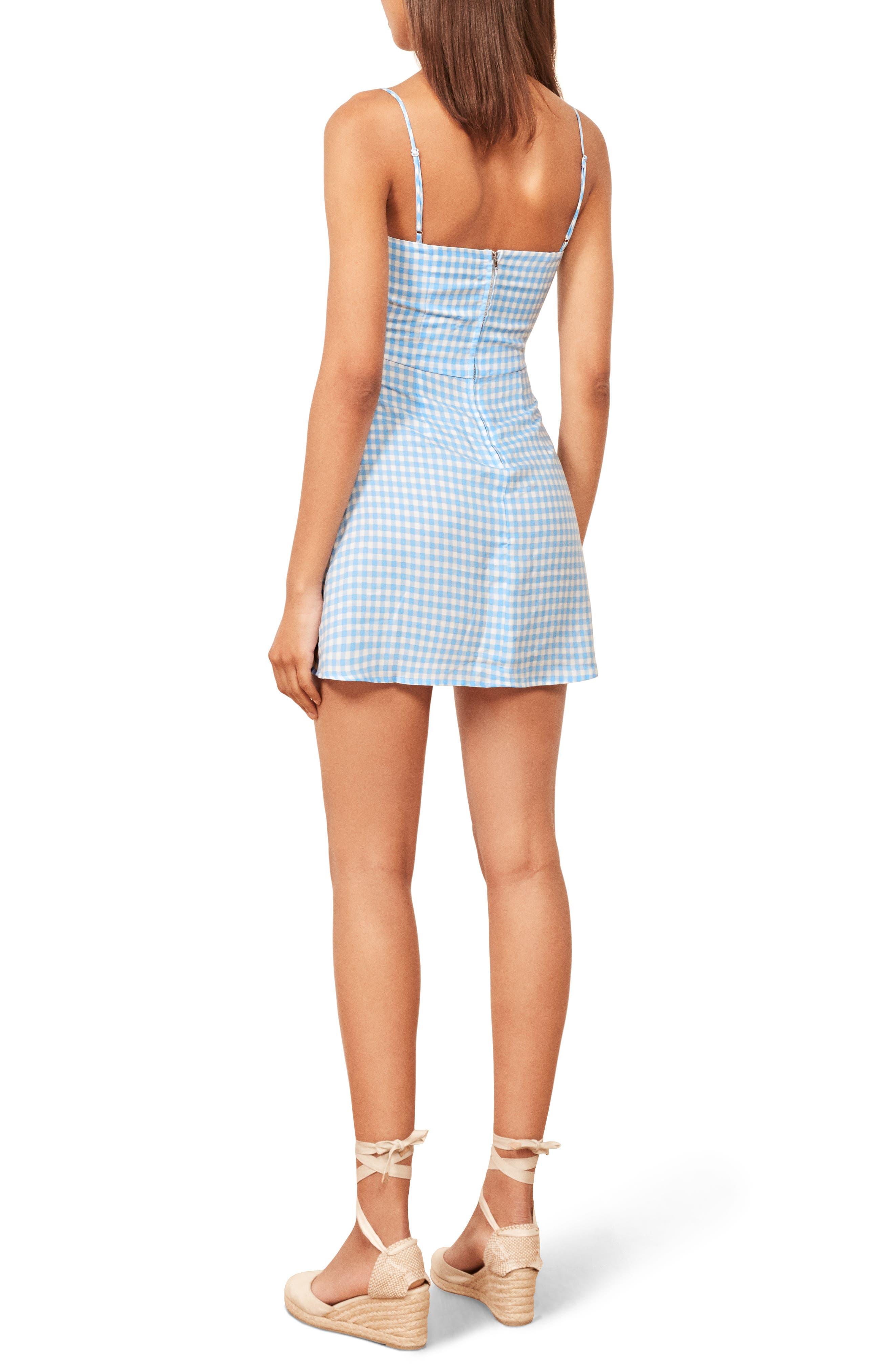Preston Floral Mini Dress,                             Alternate thumbnail 3, color,                             RUTH