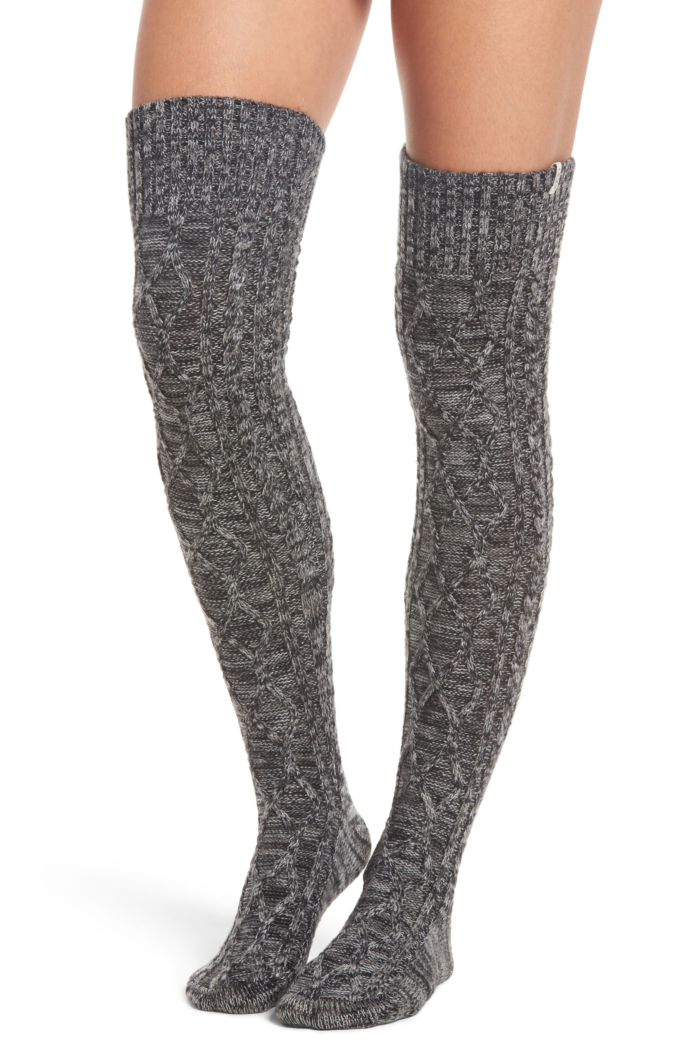 Cable Knit Over the Knee Socks,                             Main thumbnail 1, color,                             031