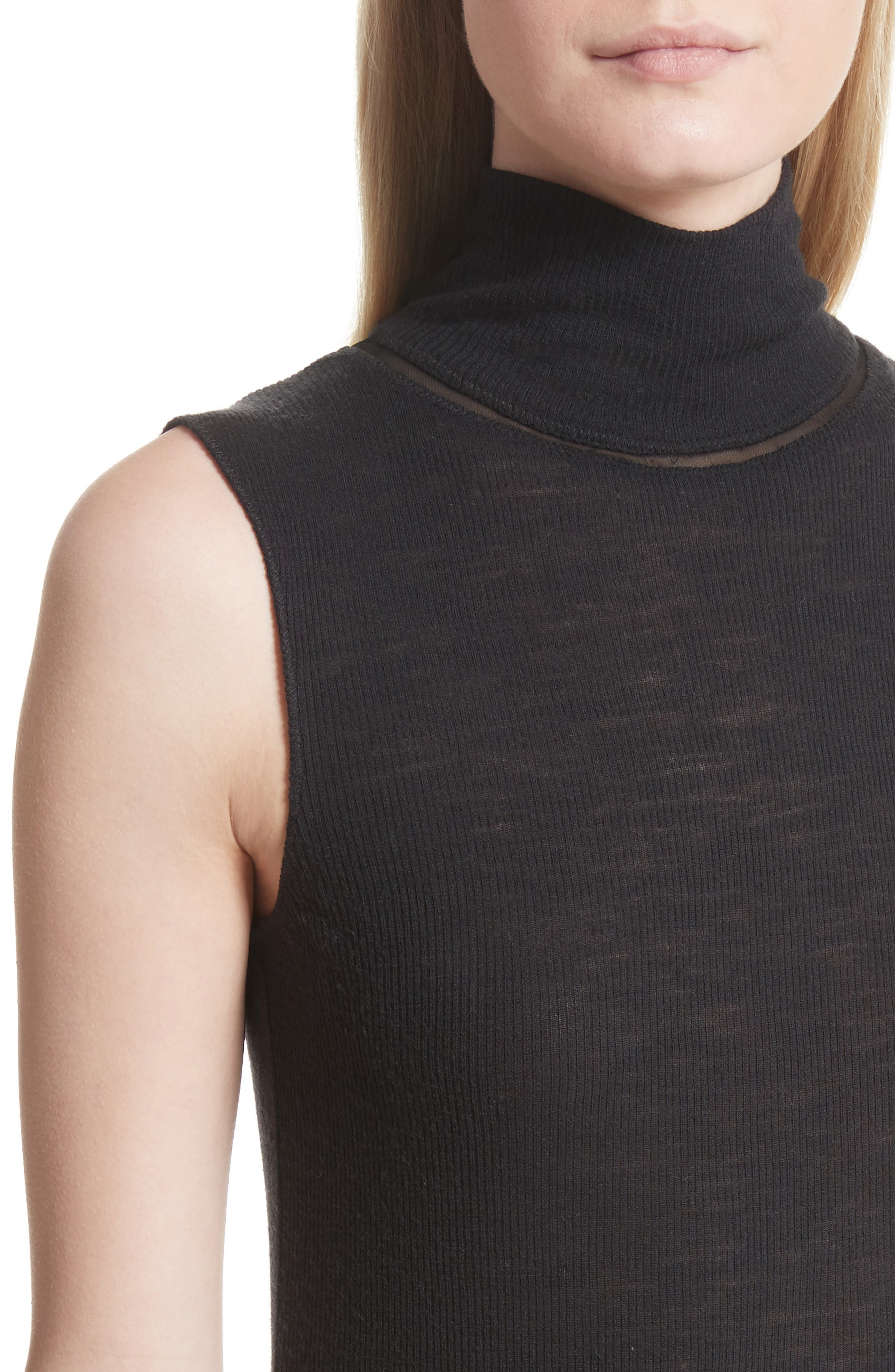 Nova Wool Turtleneck,                             Alternate thumbnail 4, color,                             001