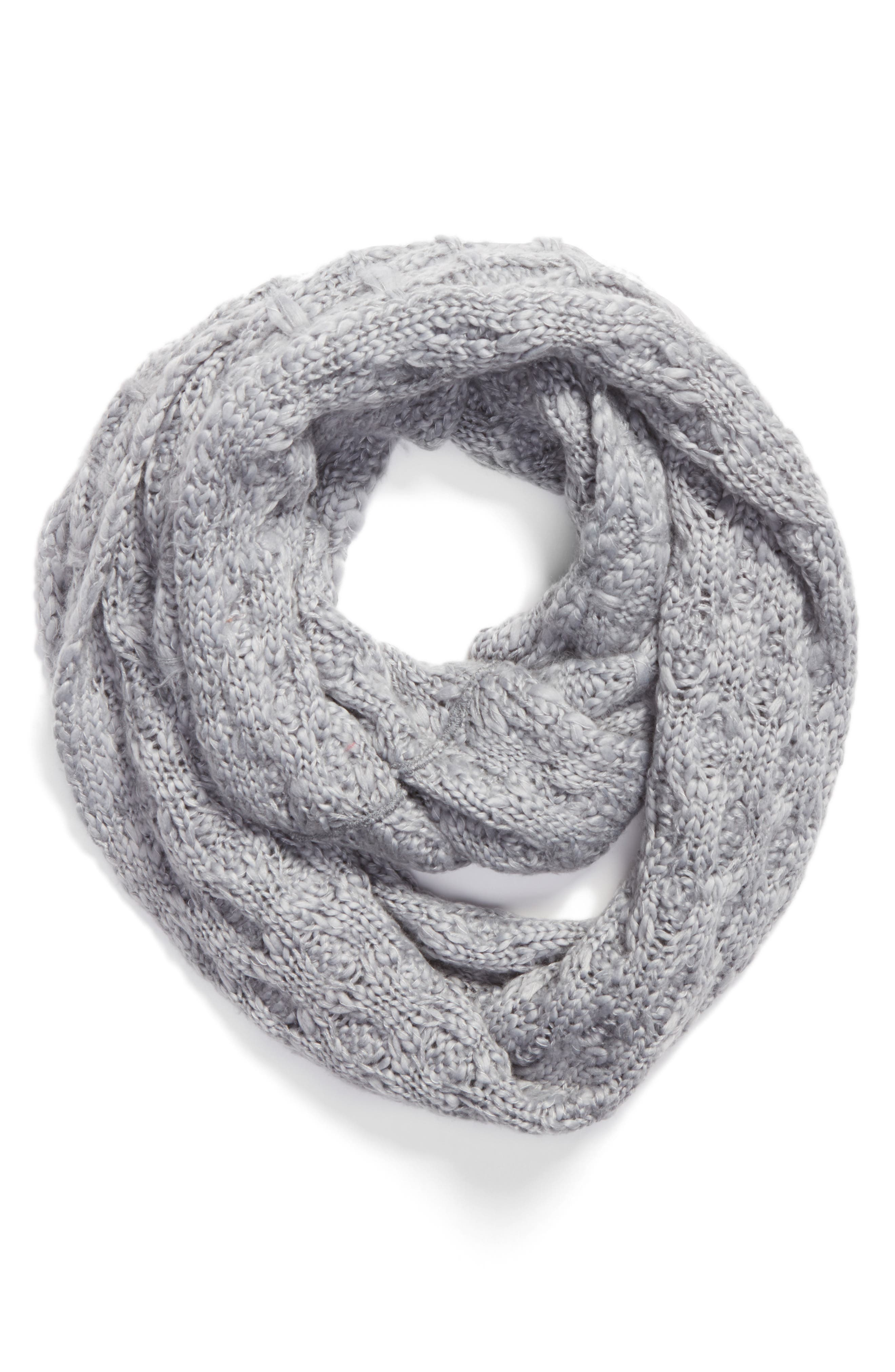 Solid Chunky Knit Infinity Scarf,                             Alternate thumbnail 7, color,