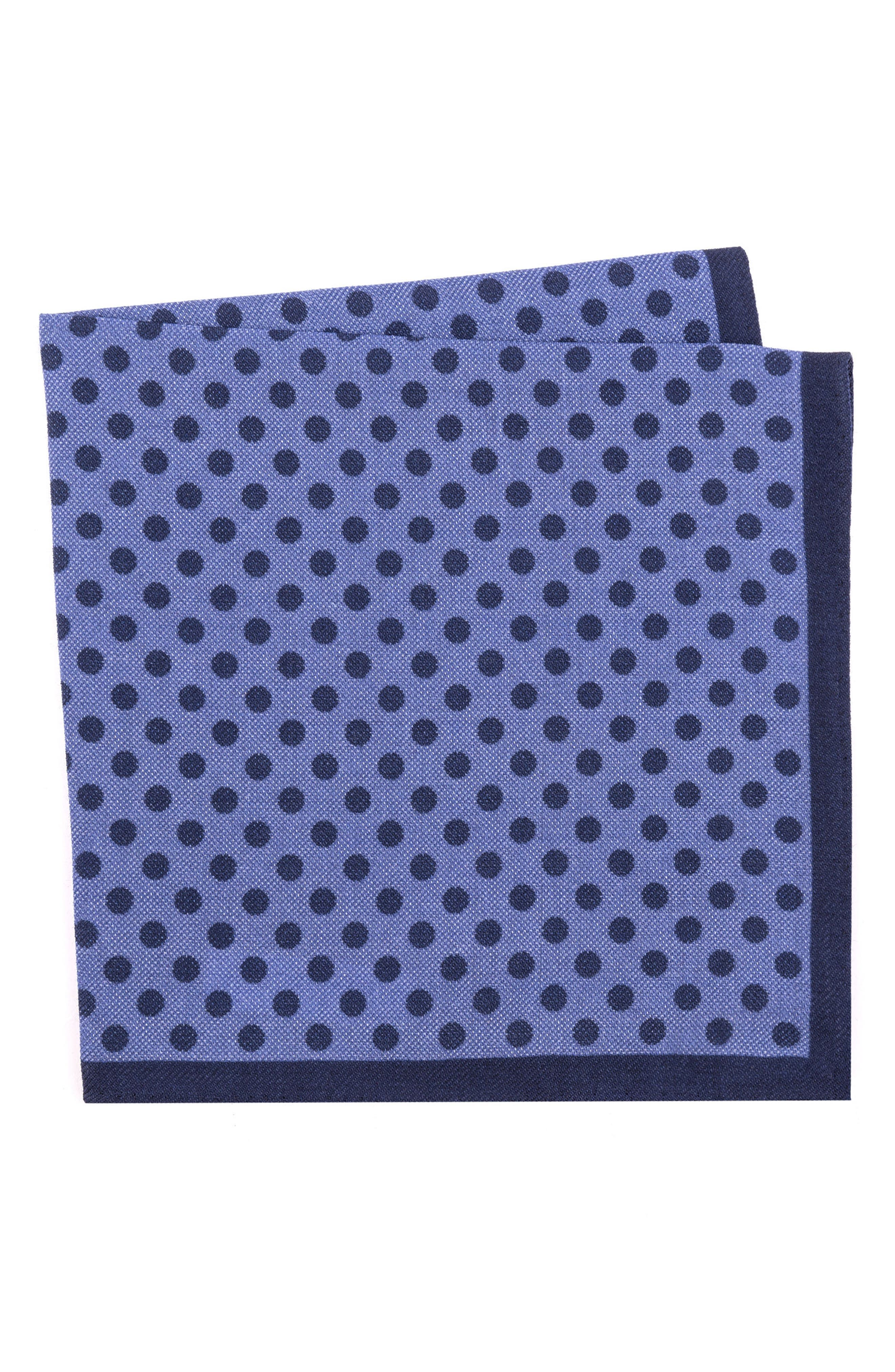 TED BAKER LONDON Dot Wool Pocket Square, Main, color, 400