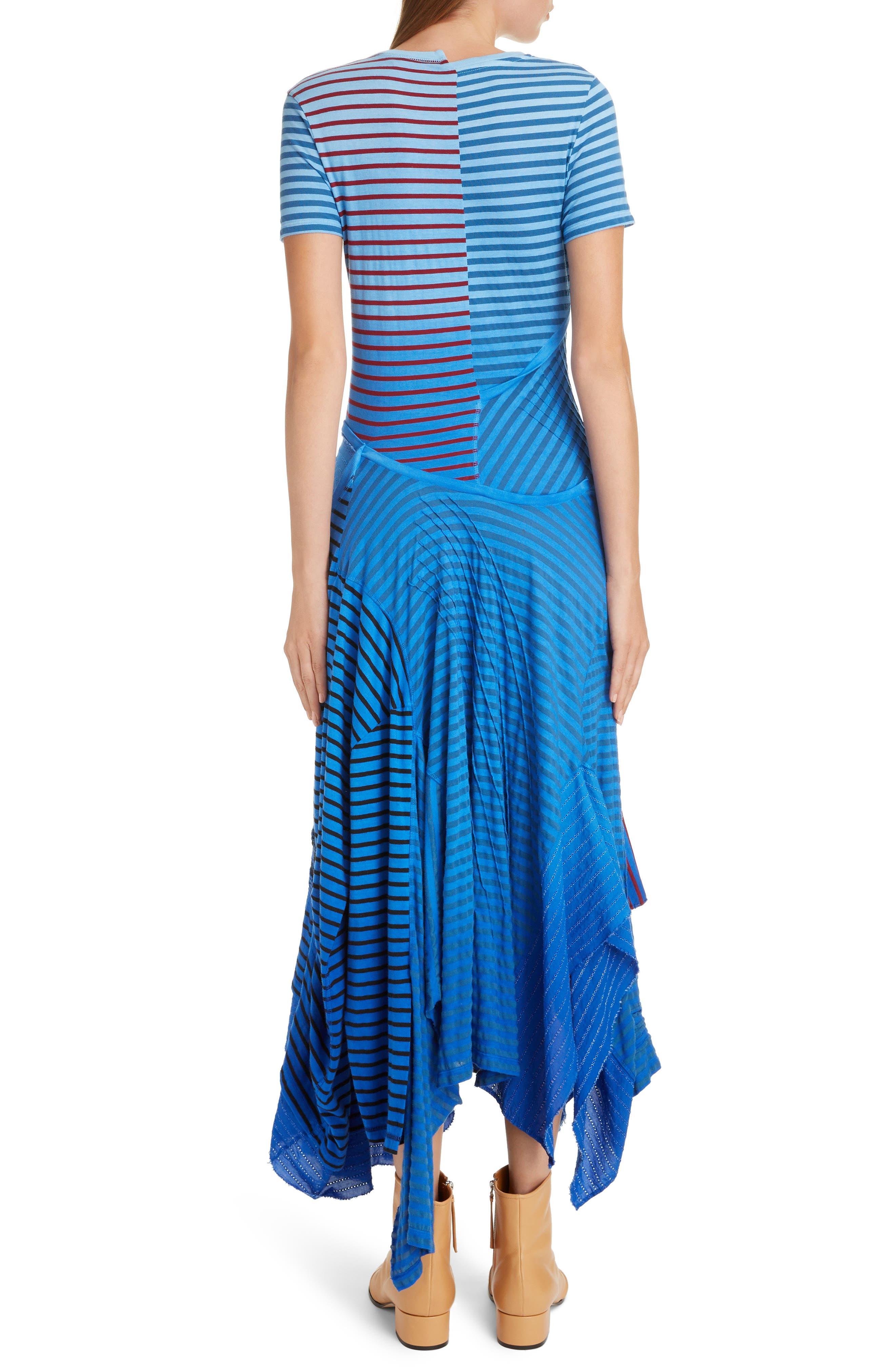 LOEWE,                             Stripe Tie Dye Asymmetrical Dress,                             Alternate thumbnail 2, color,                             5100 BLUE