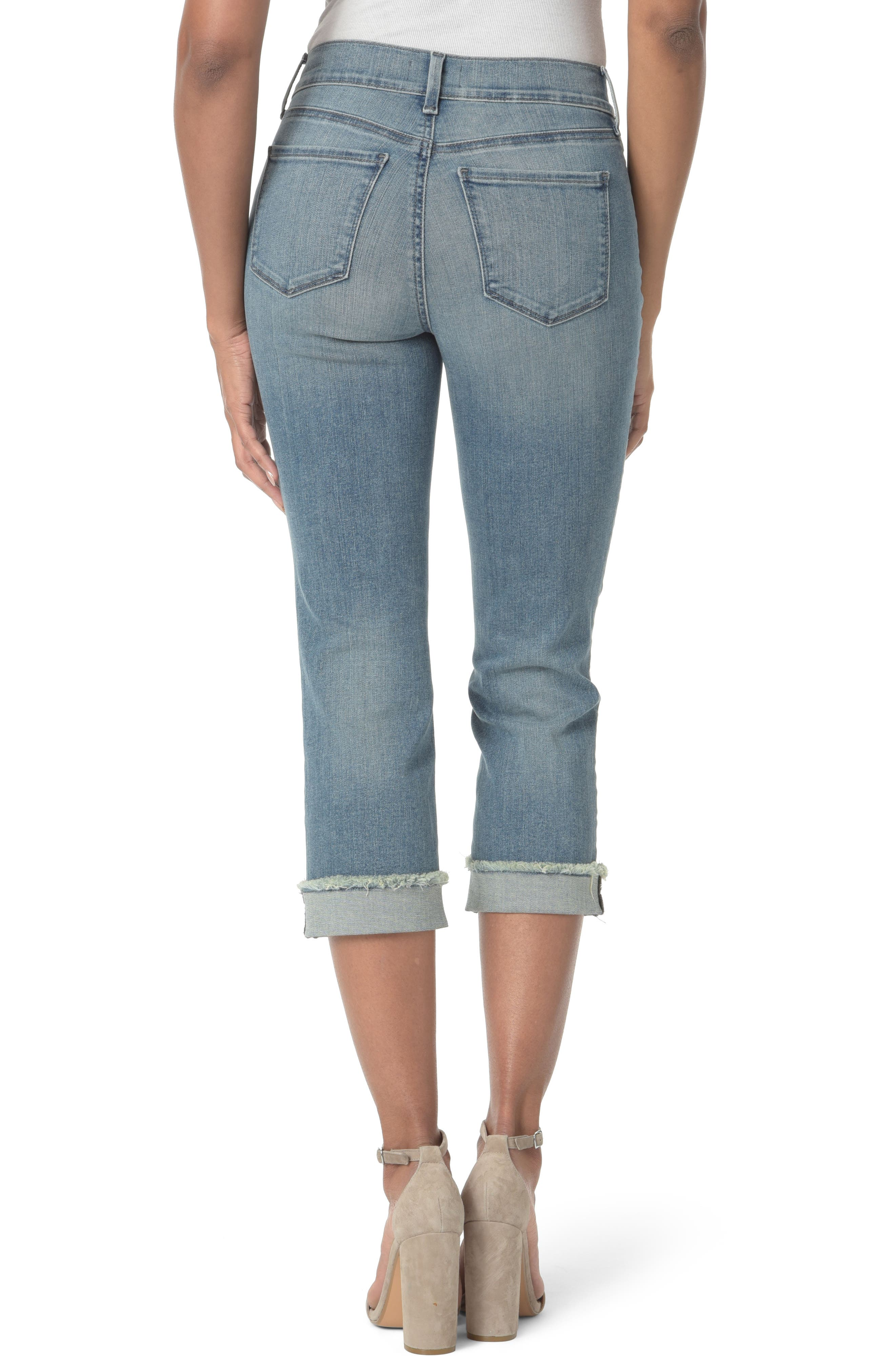 Marilyn Cropped Cuff Jeans,                             Alternate thumbnail 4, color,