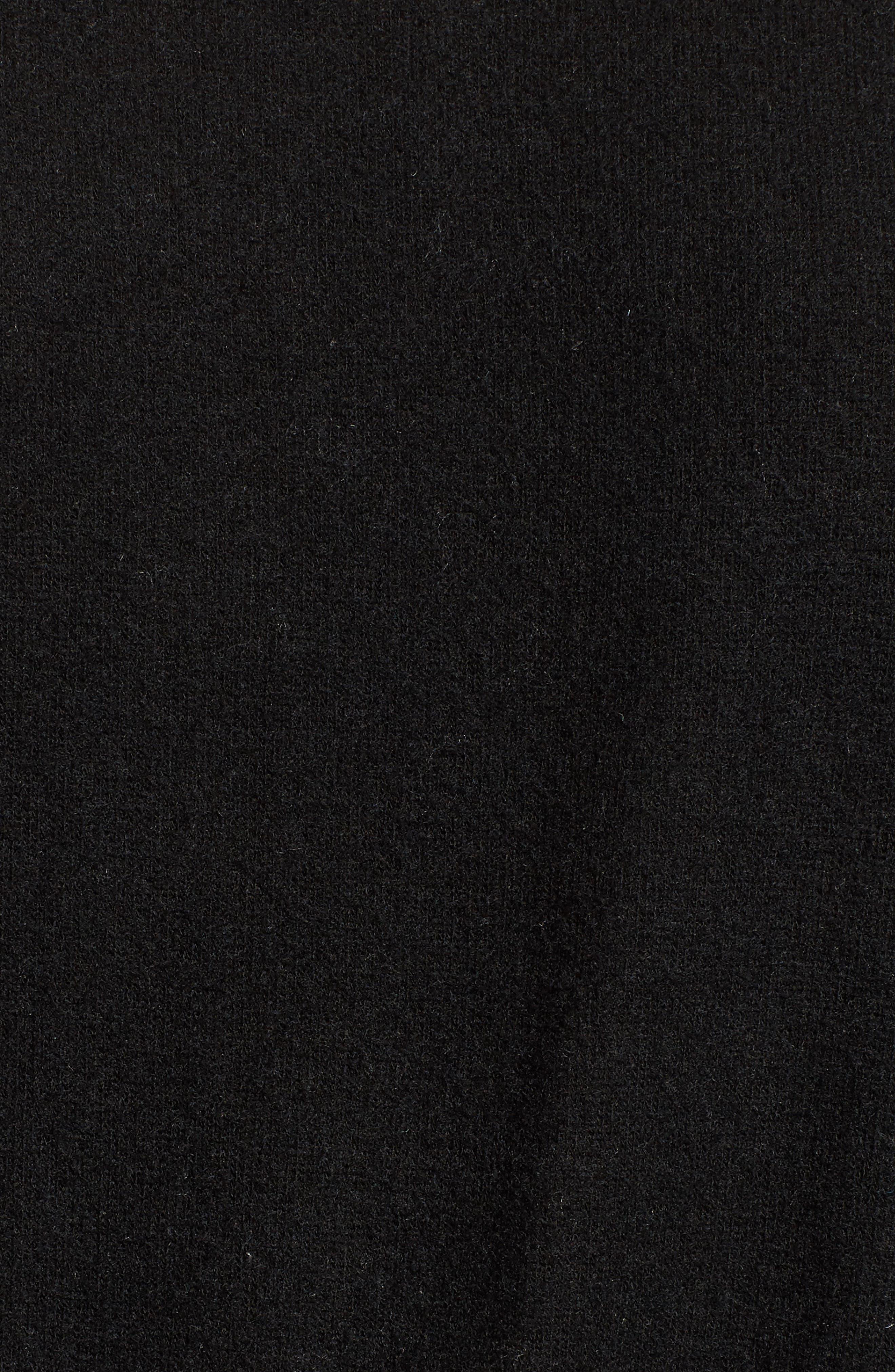 Brushed Smocked Sweatshirt,                             Alternate thumbnail 5, color,                             001