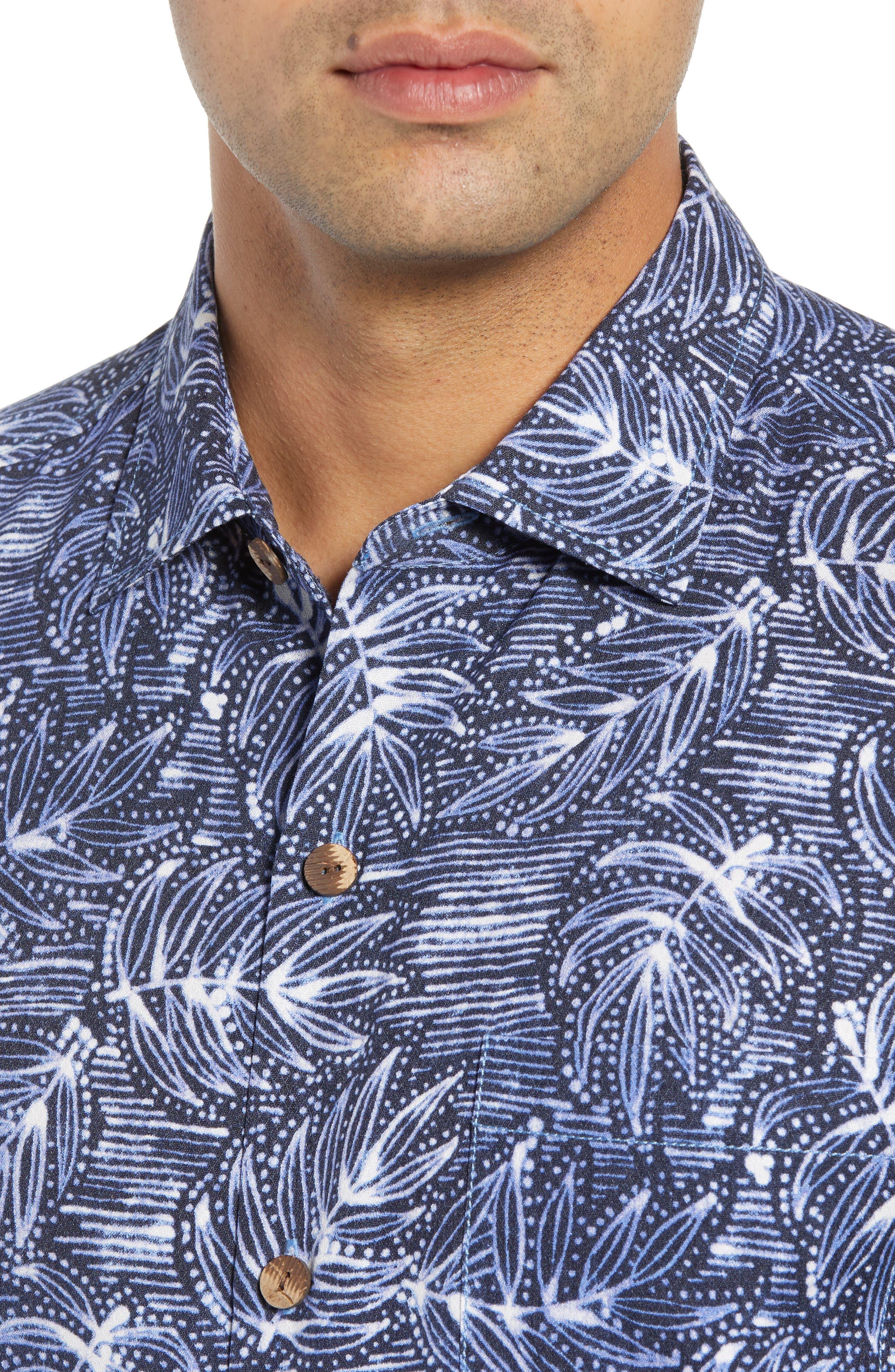 Bueno Batik Sport Shirt,                             Alternate thumbnail 4, color,                             BLUE JEAN