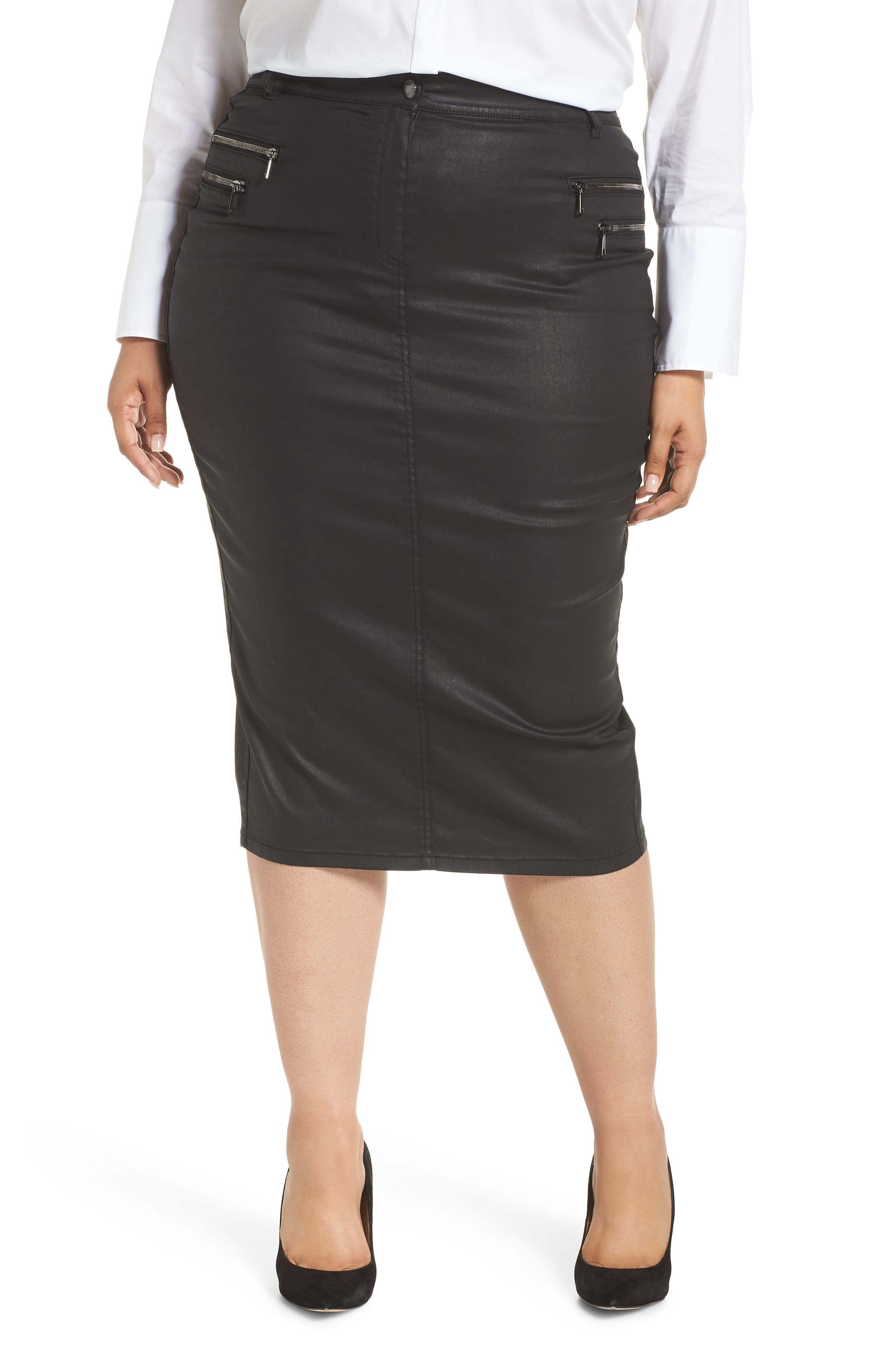 ASHLEY GRAHAM X MARINA RINALDI Capraia Pencil Skirt in Black 2