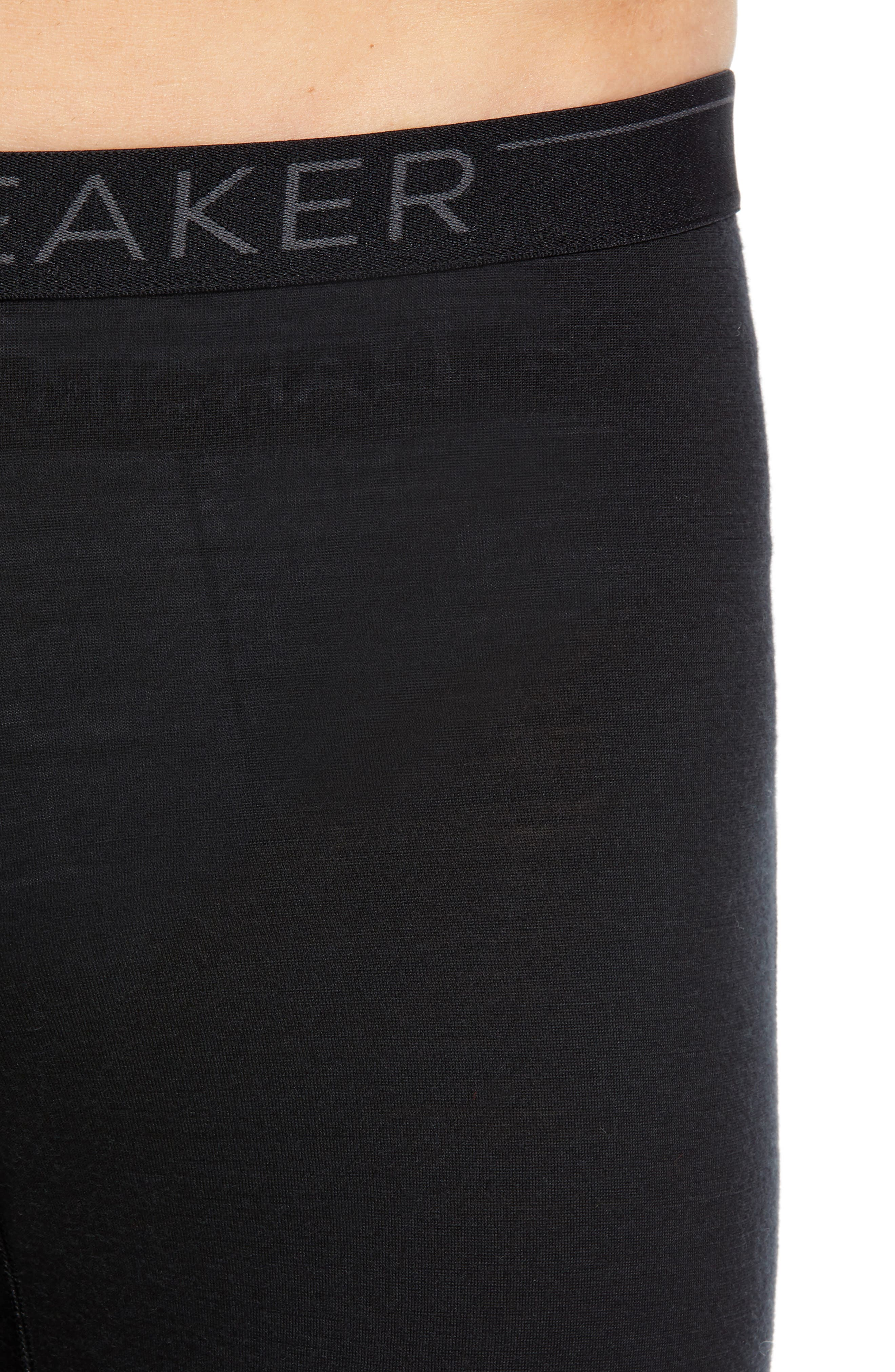 Oasis Slim Merino Wool Jersey Base Layer Leggings,                             Alternate thumbnail 4, color,                             BLACK