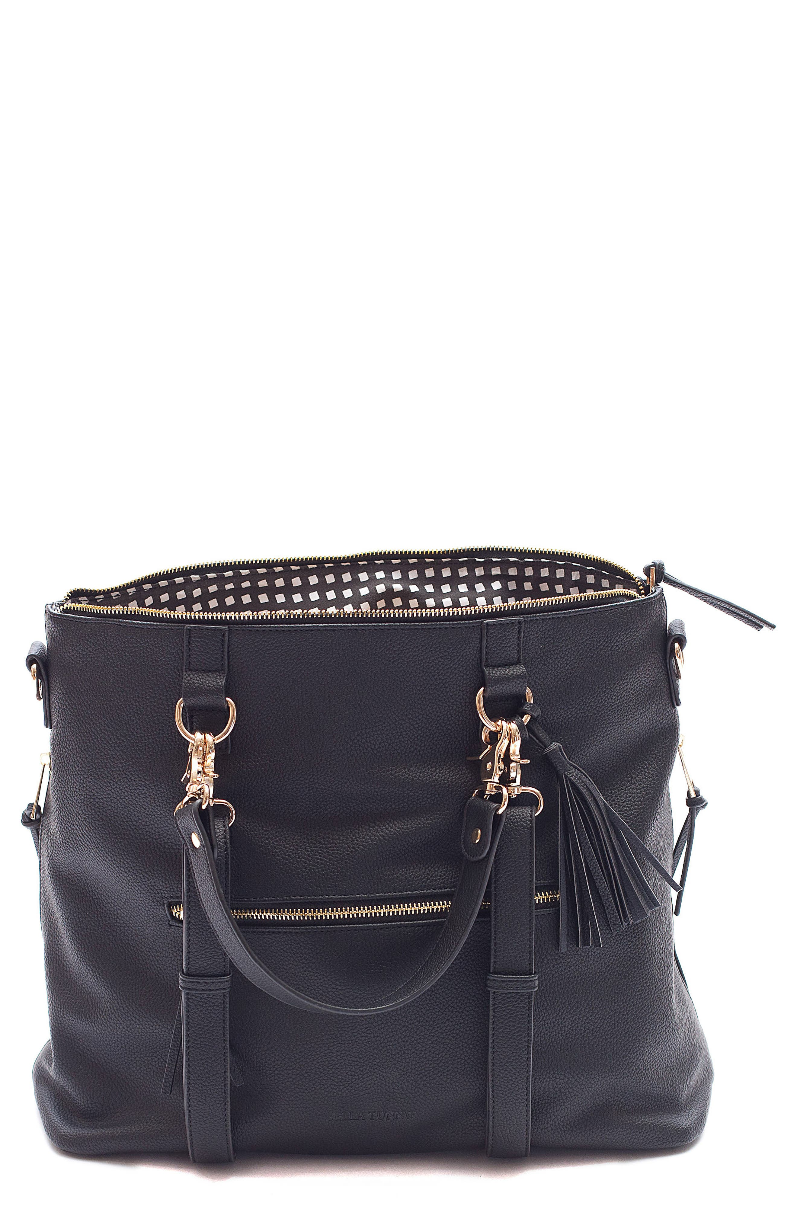 Boss Convertible Diaper Backpack,                             Main thumbnail 1, color,                             BLACK