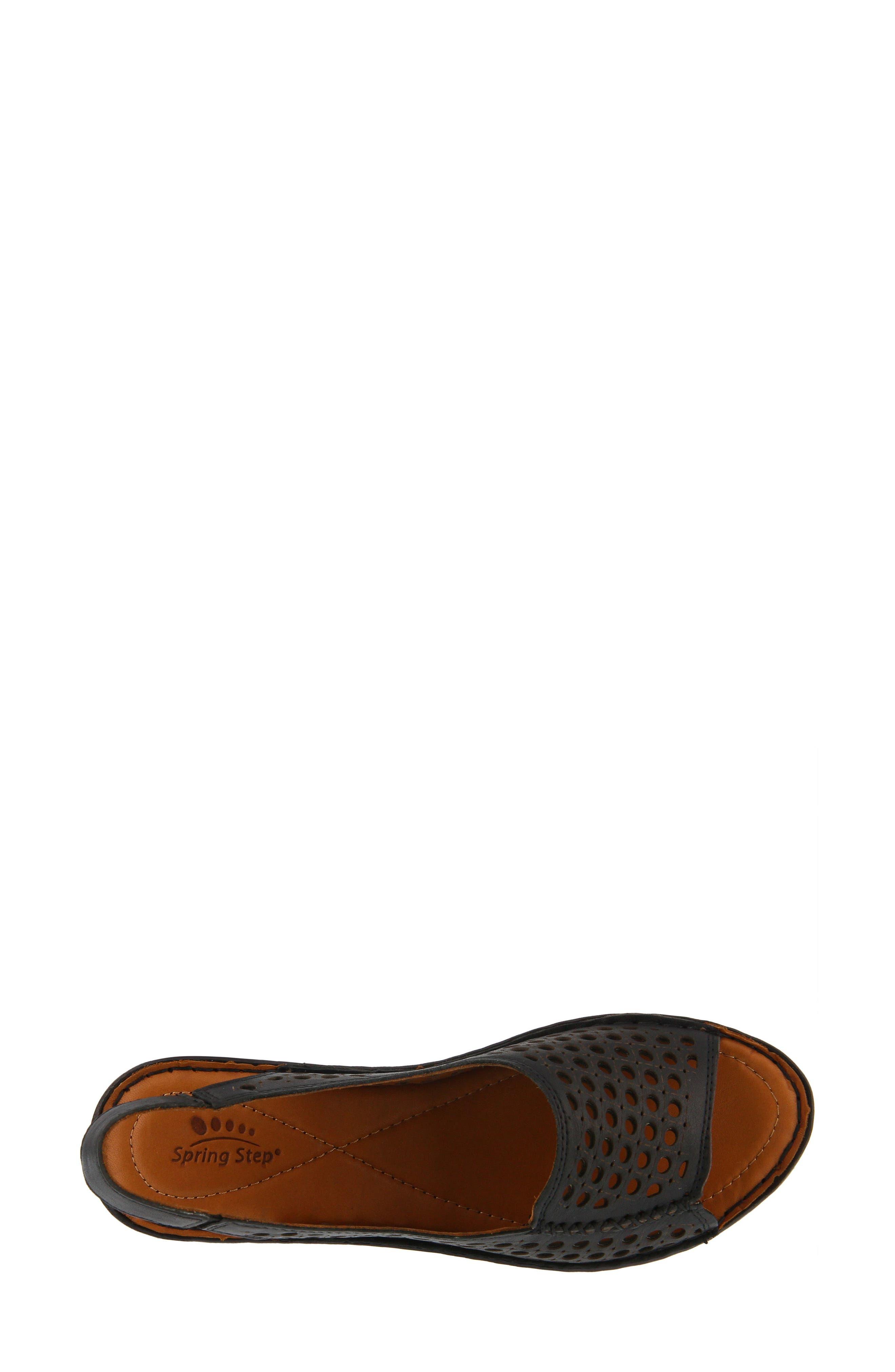 Jordana Slingback Sandal,                             Alternate thumbnail 4, color,                             BLACK LEATHER