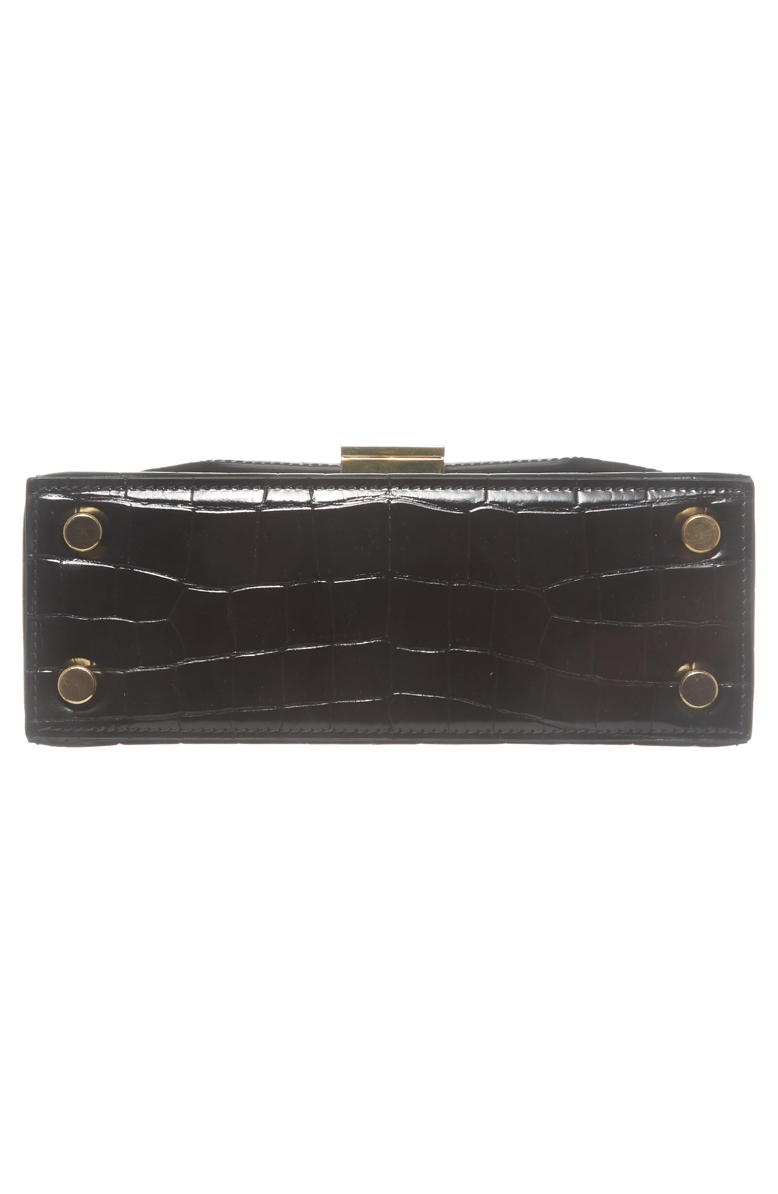 Mini Vanity Top Handle Box Bag,                             Alternate thumbnail 6, color,                             001